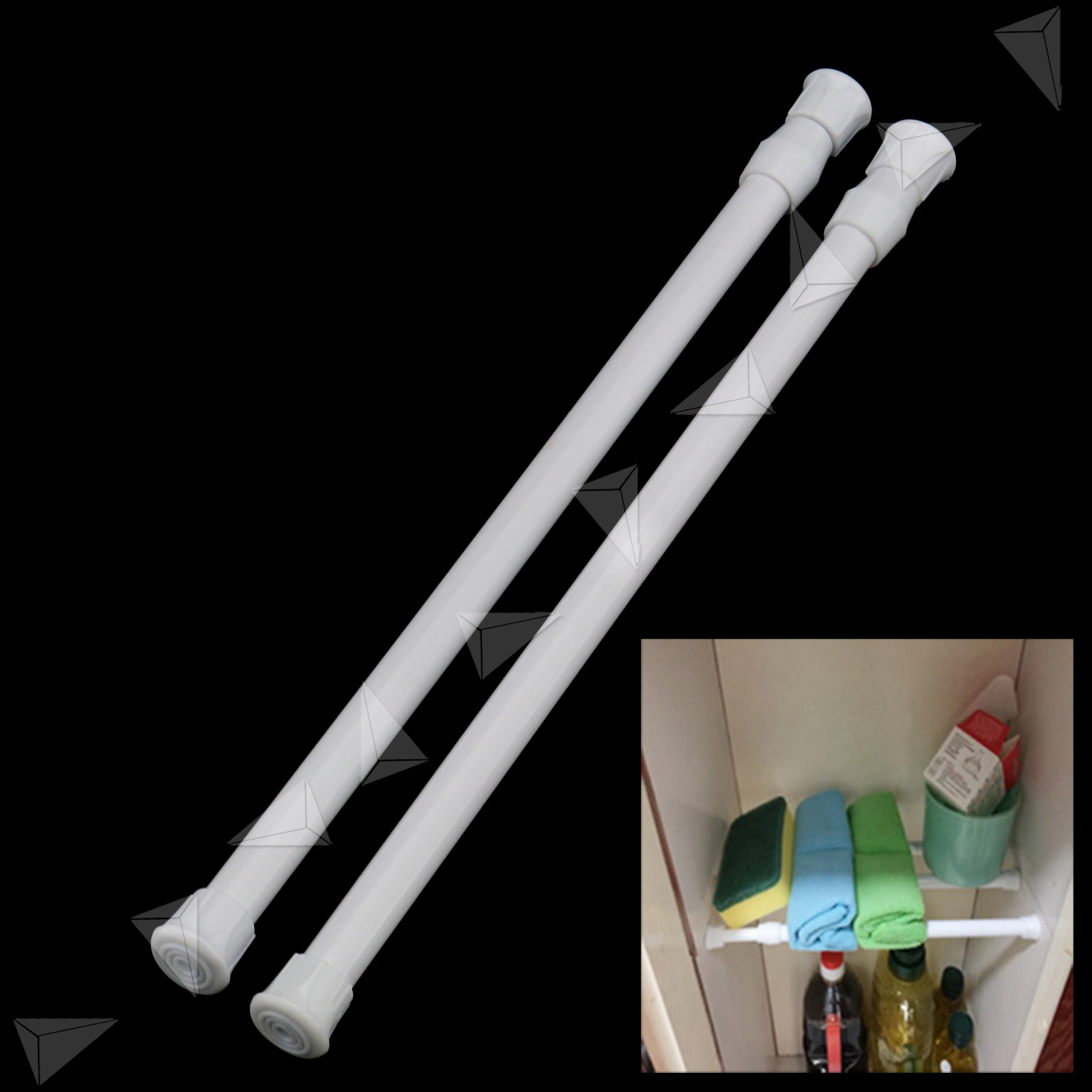 30 50cm Spring Loaded Net Rod Voile Curtain Rail
