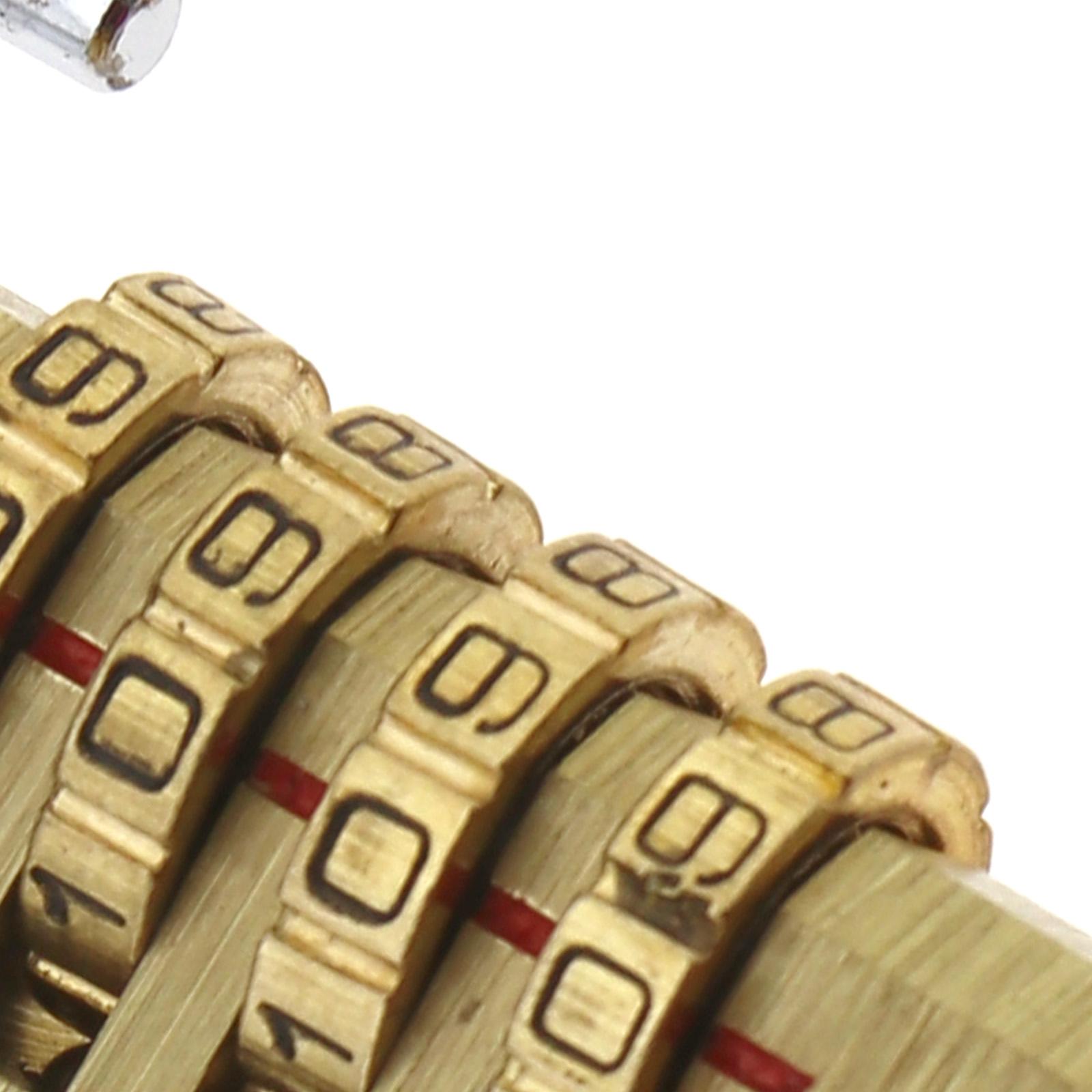 1X Zahlenschloss Codeschloss Vorhangschloss Messing 4 Passwort für Handgepäck