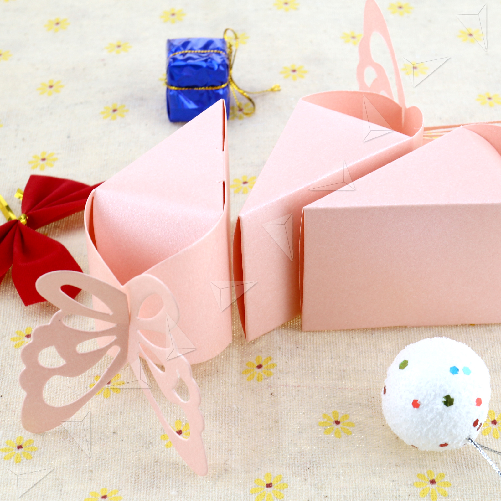 50Pcs Butterfly Favor Gift Candy Boxes Cake Style for Baby Shower ...