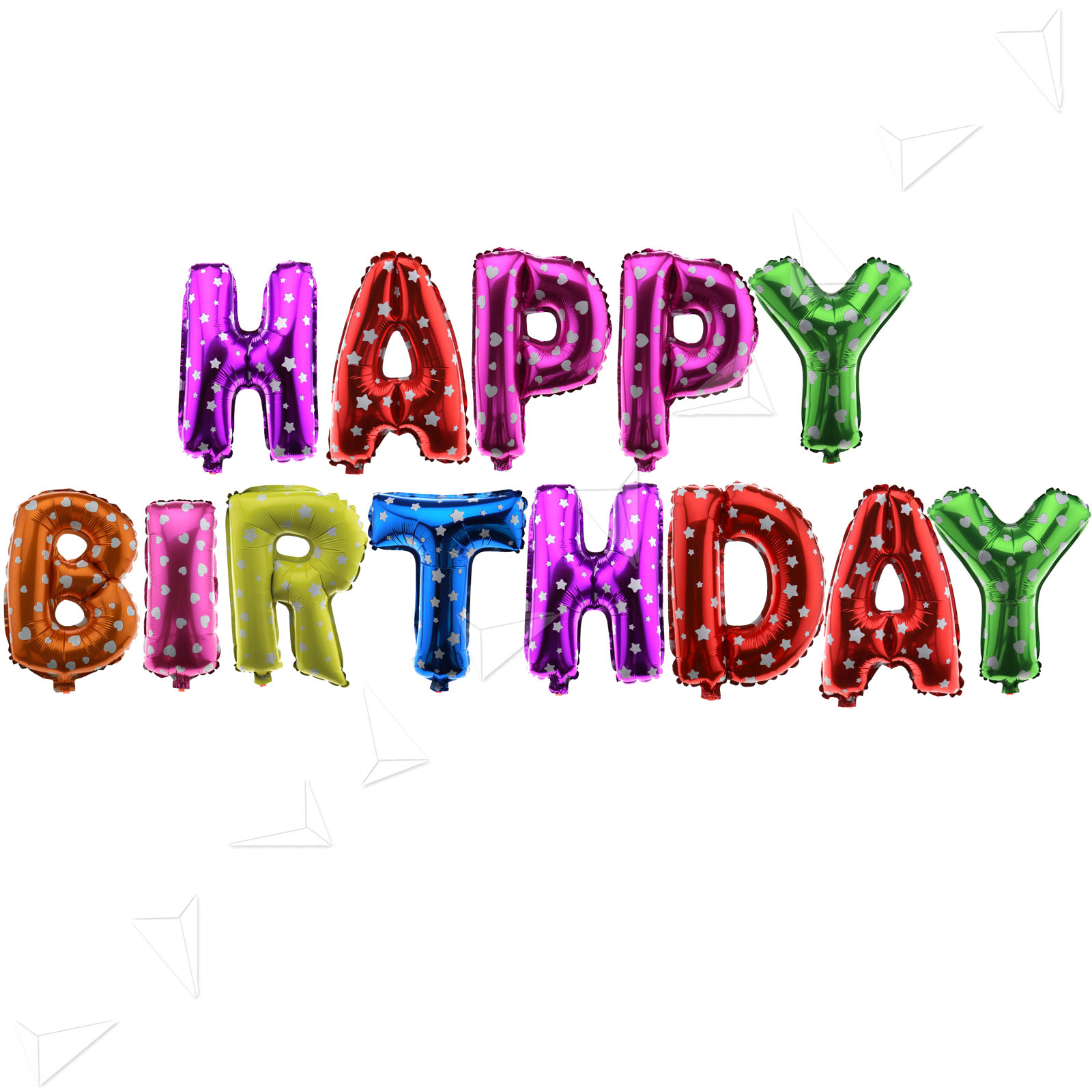 Happy Birthday Letters Foil Balloon Set Birthday Party