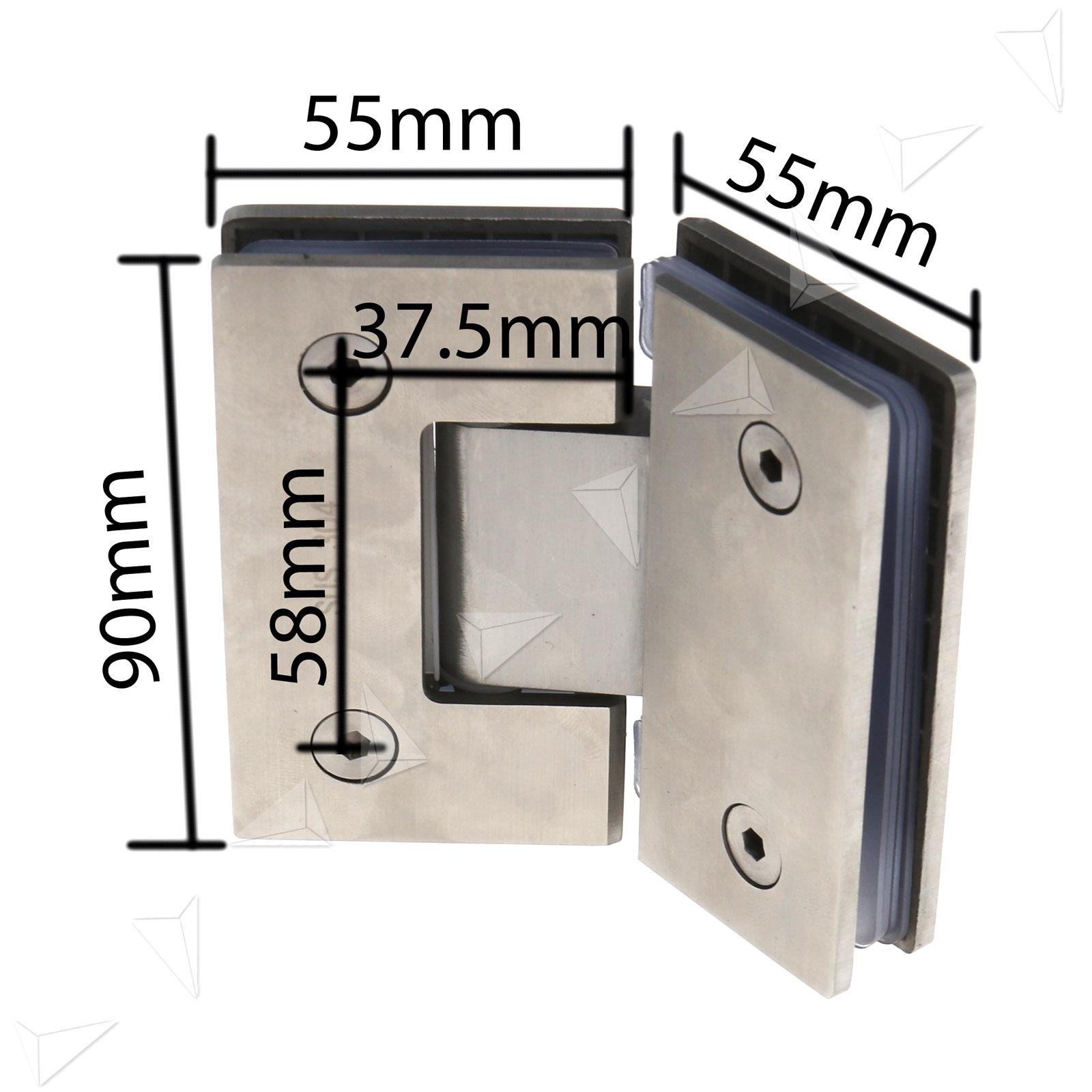 135 Degree Frameless Glass To Shower Door Bracket Hinge Clip Ebay