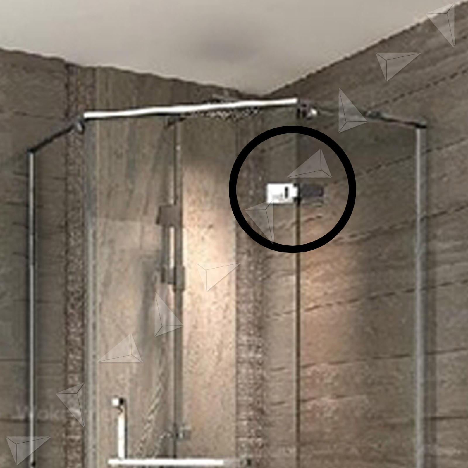 304 Stainless Steel Frameless Glass To Shower Door Hinge Chrome