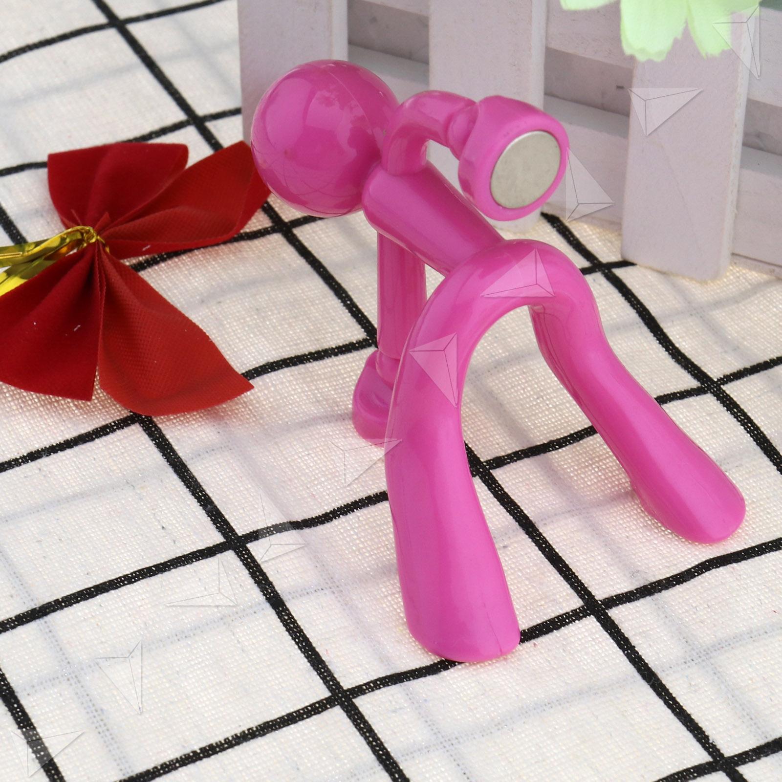 Strong Man Magnetic Key Holder Key Pete Magnet Rack Wall Mount Hook Hanger  Pink