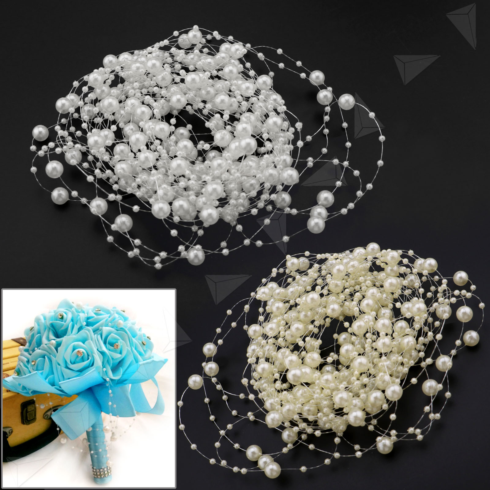 Crystal Strands Crafts Garland Line Bead for Clothes Wedding Party DIY Decor