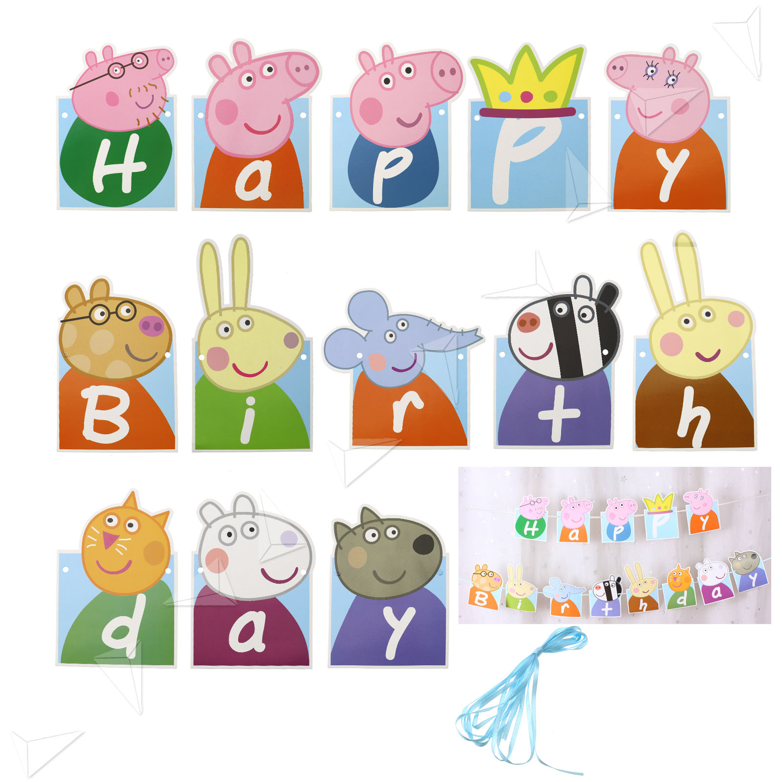 Peppa Pig Banner Peppa Pig Birthday Banner By: Kids Lovely PEPPA PIG Happy Birthday Banner Bunting Party