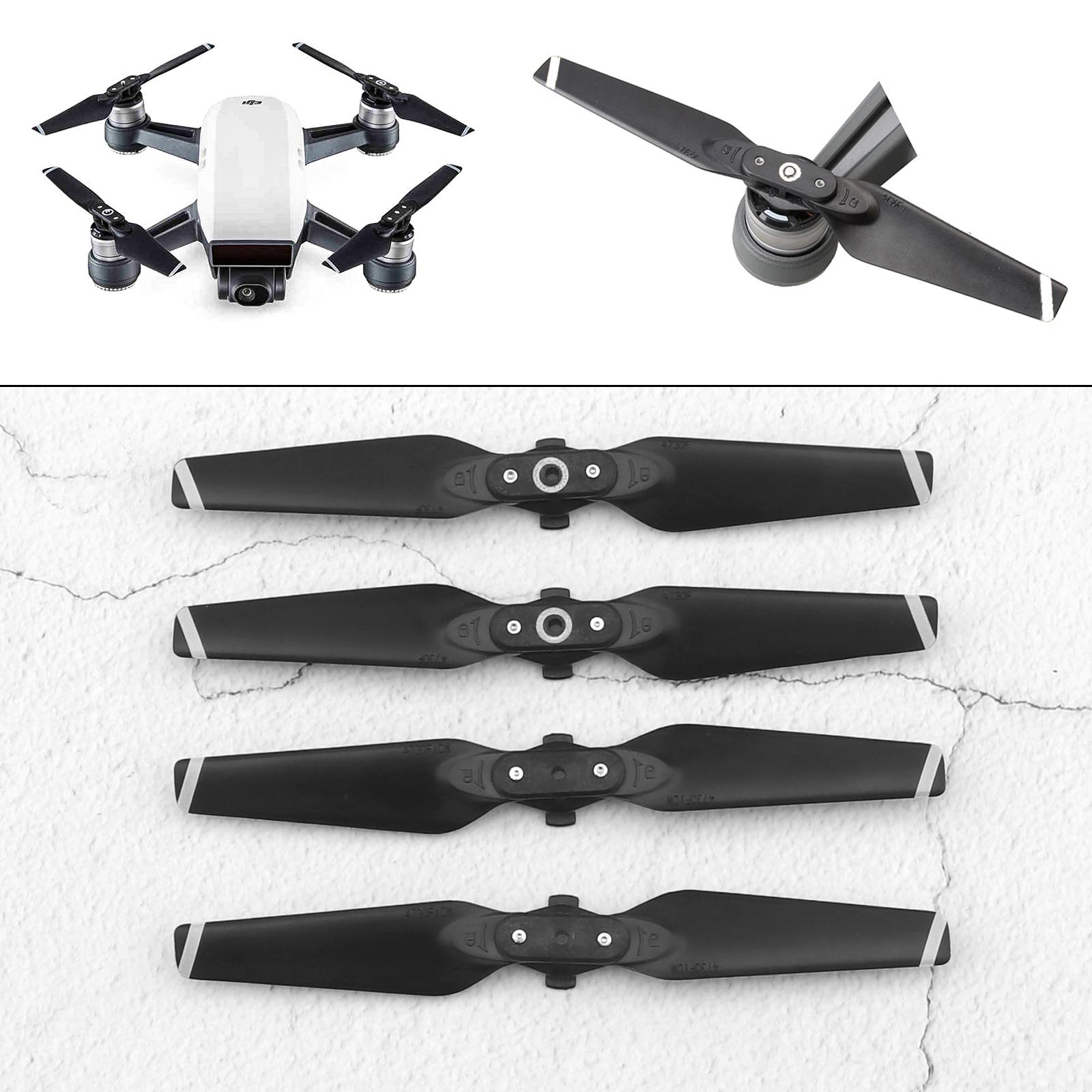 1 Pair 4730F Quick-release Folding Propeller CW//CCW Blade for DJI Spark Parts