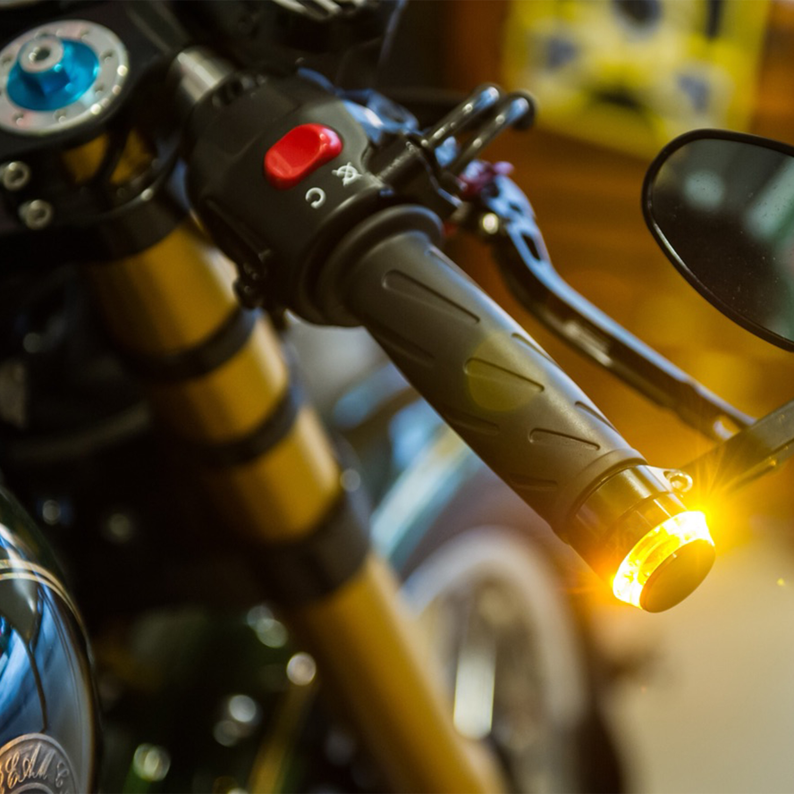 how to connect motorbike handle bar end turn signals