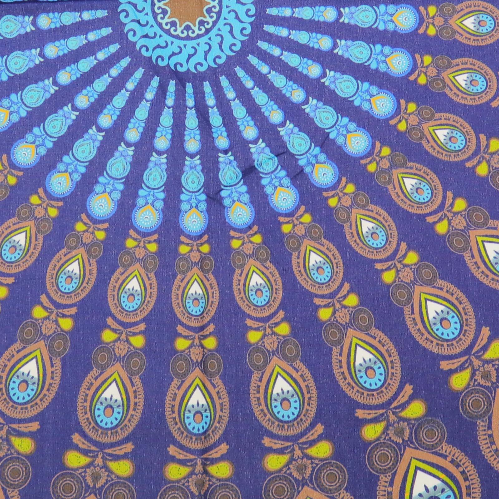 Tenture Africaine Grande Taille détails sur tapisserie de mandala indien noir et blanc / bleu / multicolore  2x1.5m outil