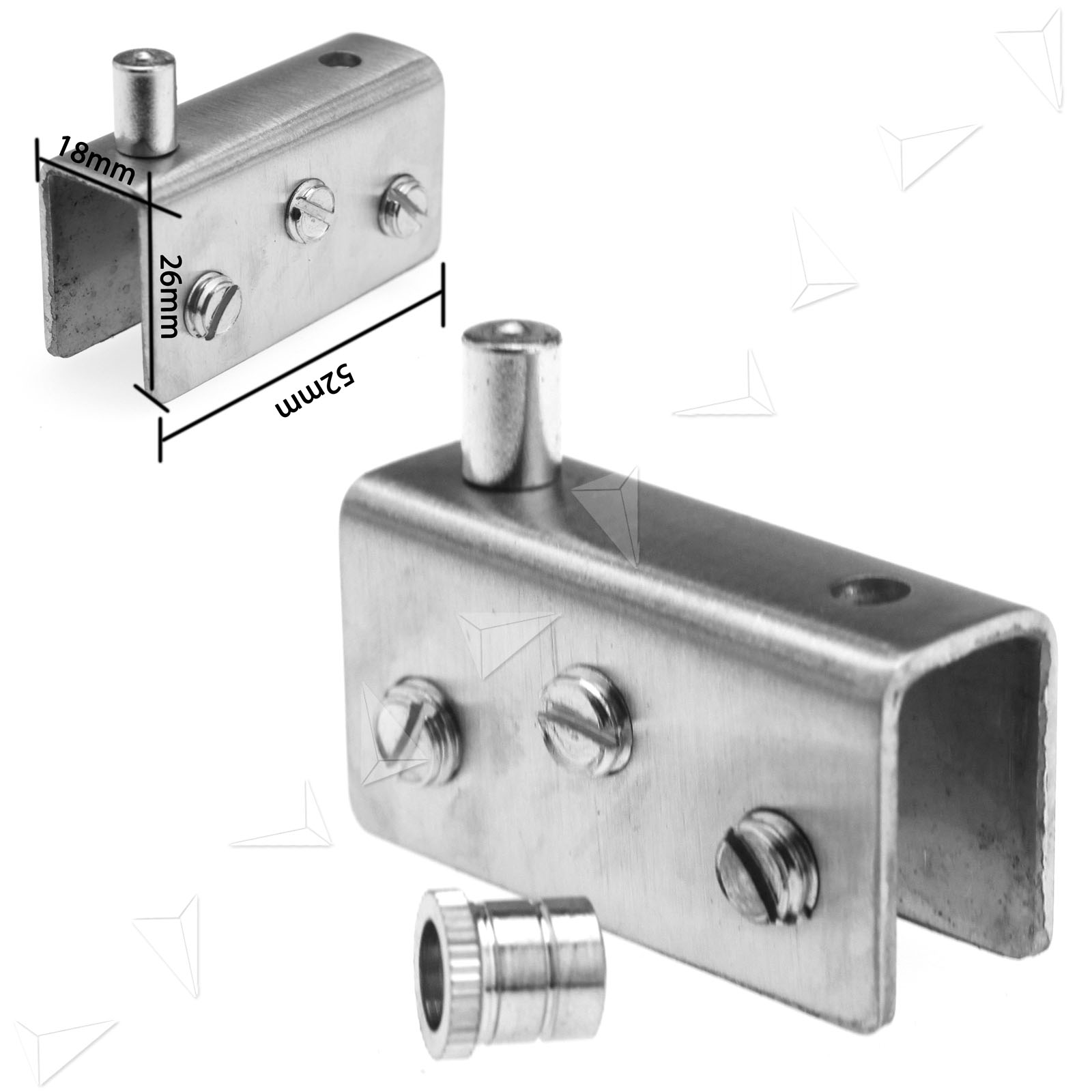 New 2pcs Glass Clamp Door Pivot Hinge For 10mm