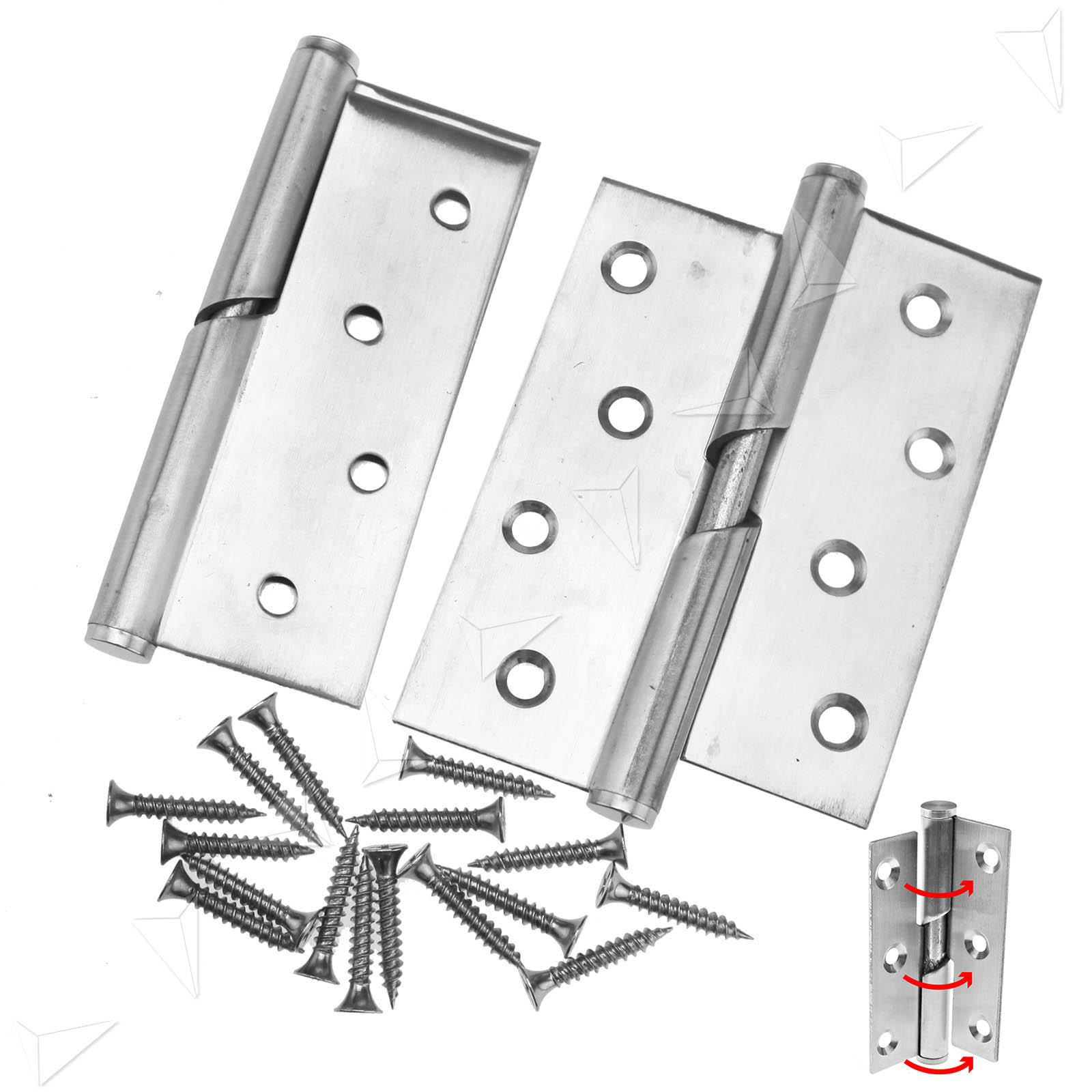 "High Quality Exterior Doors Jefferson Door: 2 Size 3""/4"" Stainless Steel Rising Butt Left/Right Door"