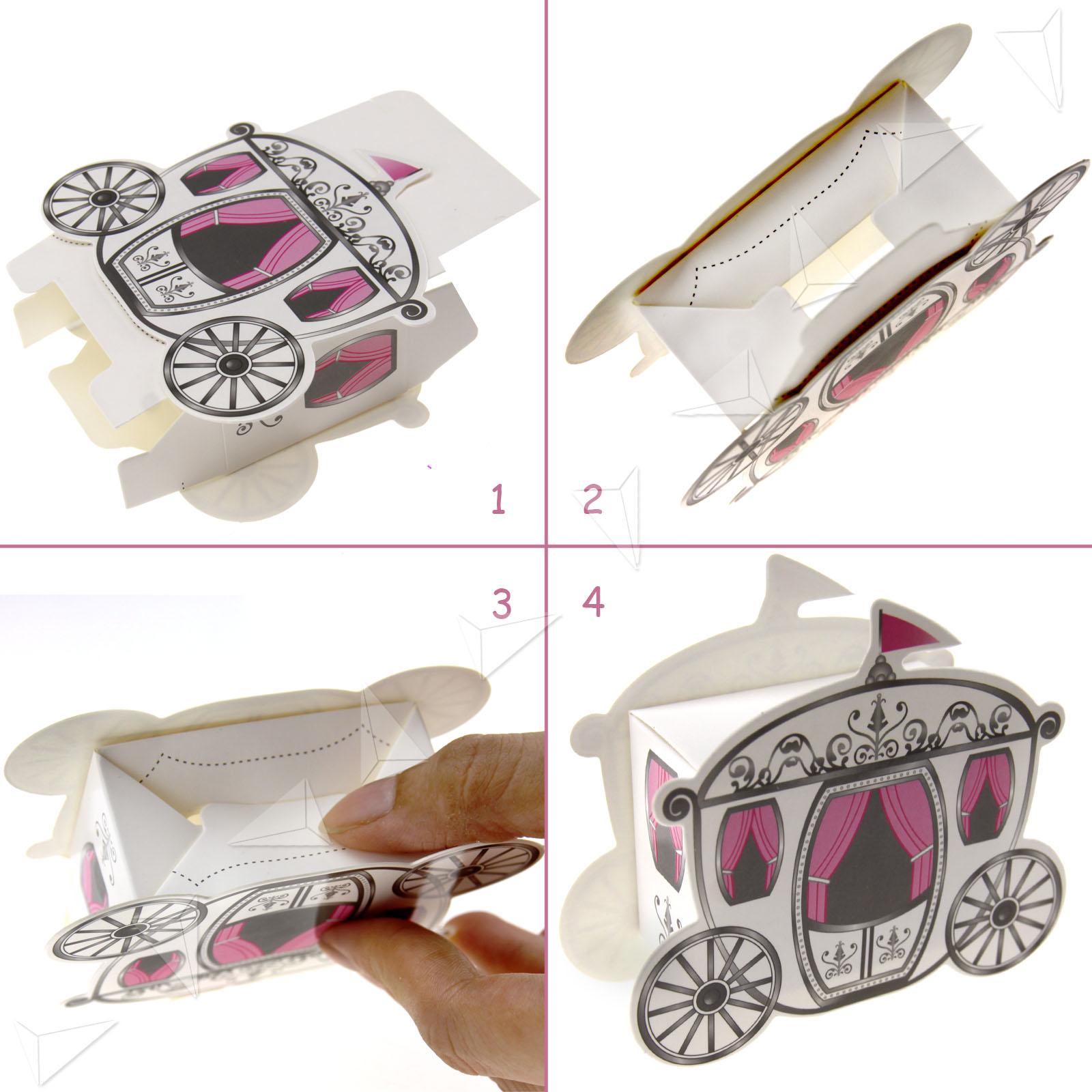 50pcs Fairytale Candy Box Cinderella Princess Carriage Wedding ...