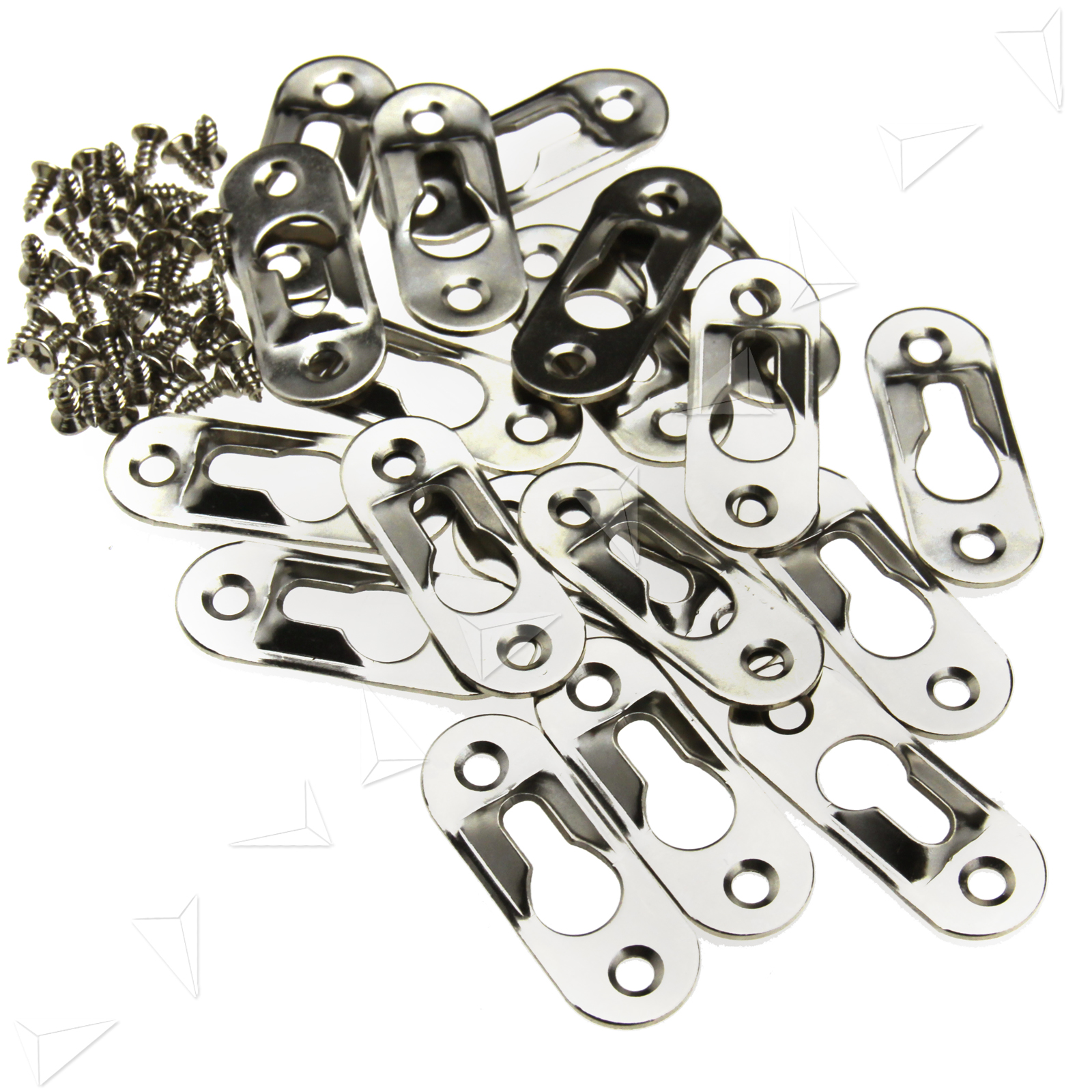 20pcs Keyhole Hanger Fasteners for Picture Frames Mirrors Cabinet 42mm x 16mm