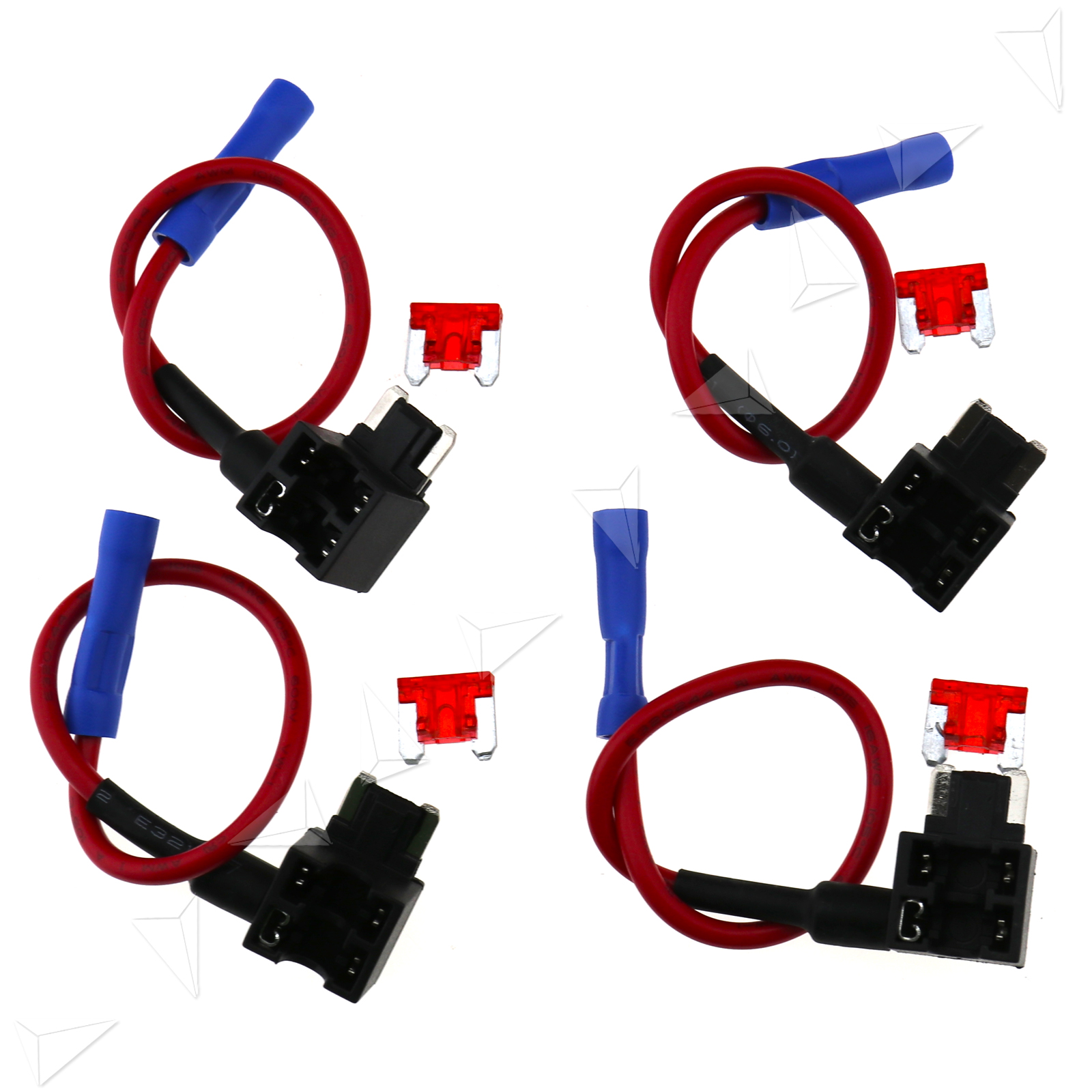 4 Pcs Add A Circuit Fuse Tap Micro Blade Piggy Back Holder Addacircuit 10a
