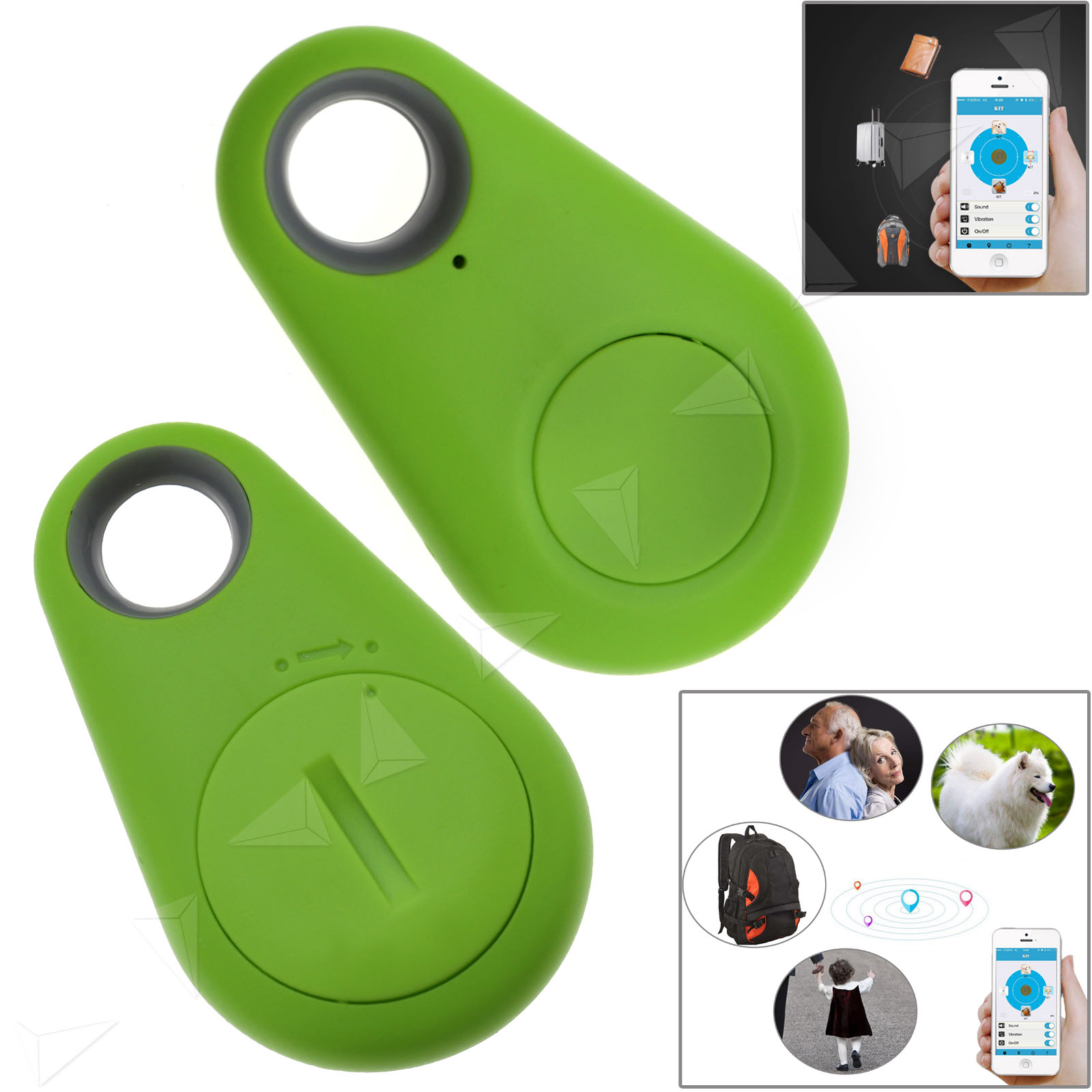 2pcs itag smart tag bluetooth tile tracker key finder anti lost and found