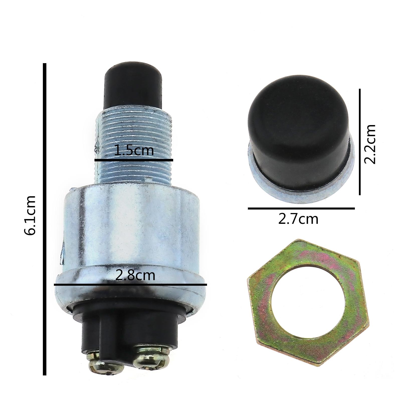 12 V Einpolige Druckschalter f/ür Motorrad//Auto Auto 5 St/ücke Wasserdichte Druckschalter Ein-Aus-Schalter