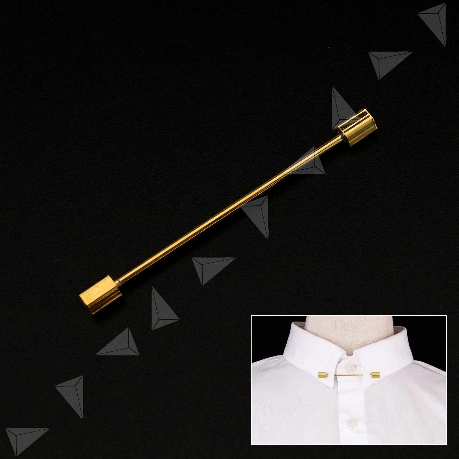 Men's Tie Pins & Clips Men Tie Brooch Shirt Neck Collar Clip Bar Pin Chain  Silver/Gold Party Gift Jewellery & Watches collabwith.org