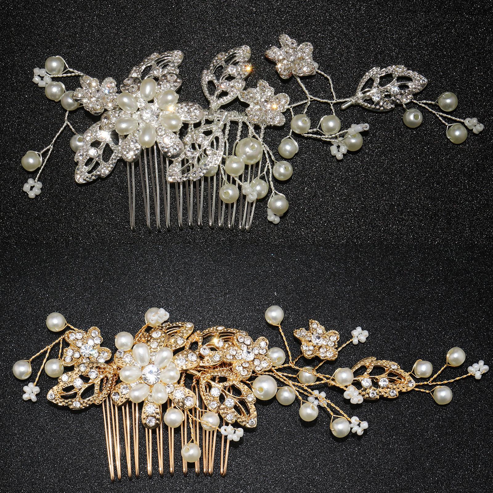 cérémonie bijoux fantaisie Accessoire cheveux peigne et chaîne argenté mariage