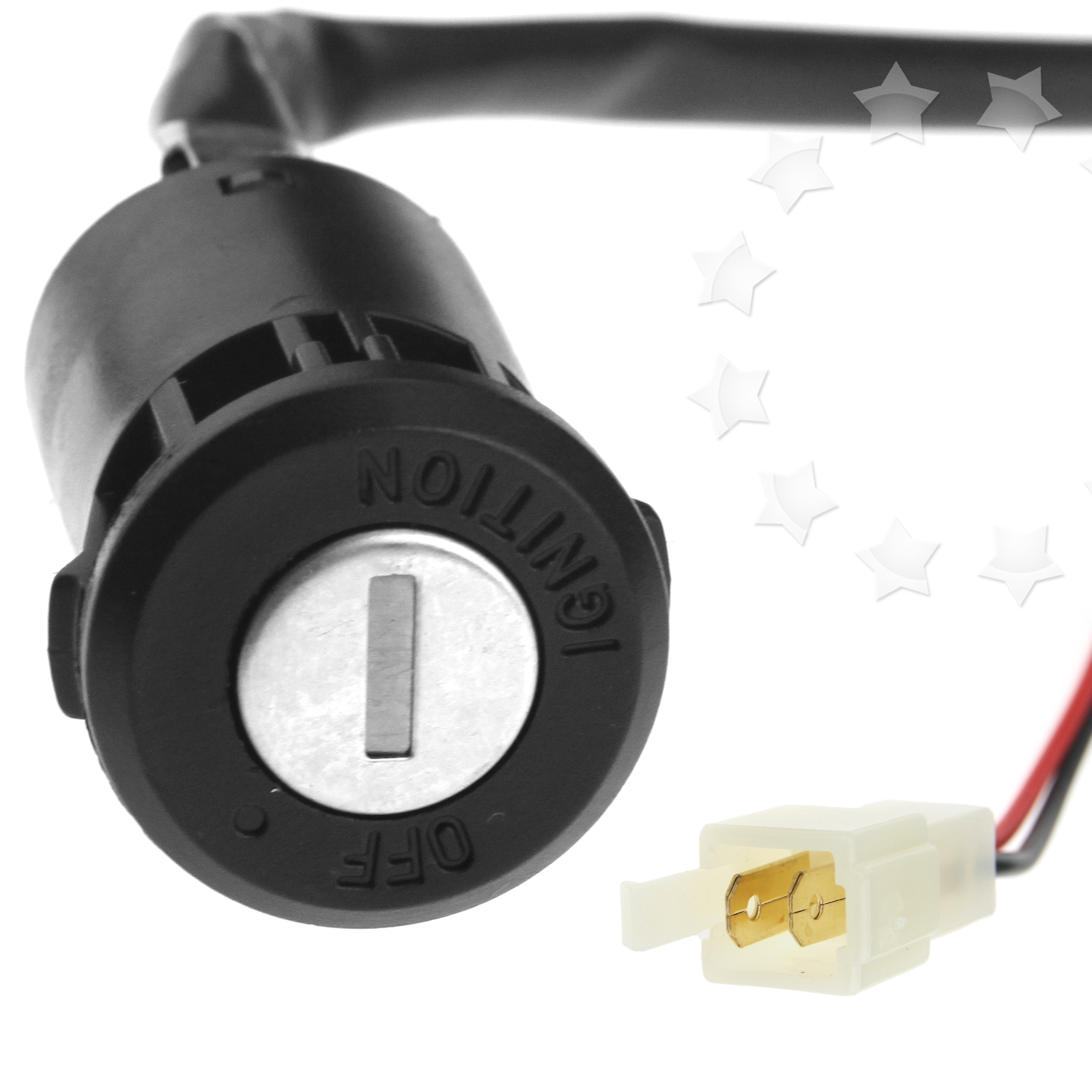 Motorcycle Ignition Barrel Key Switch 2 wire Universal On / Off ...
