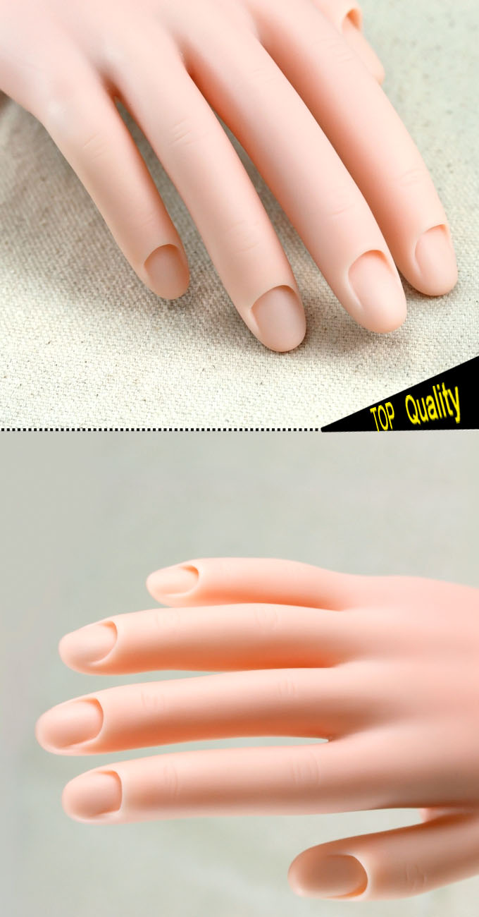 NAIL ART TIPS MOVABLE TIPS SOFT TRAINING DISPLAY MODEL PRACTICE HAND ...