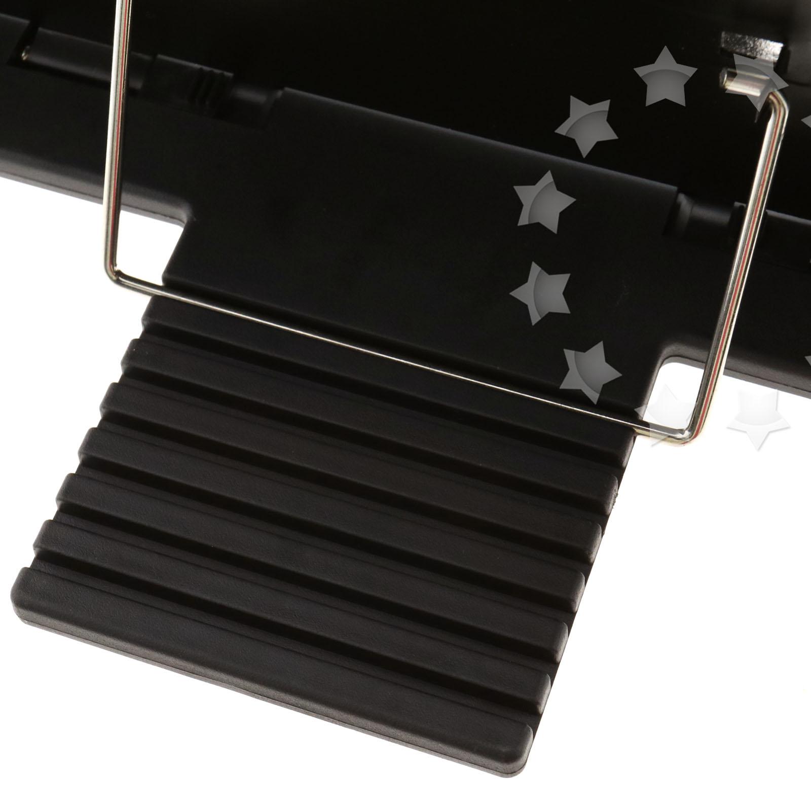 portable steel book stand bookstand adjustable tilt reading desk