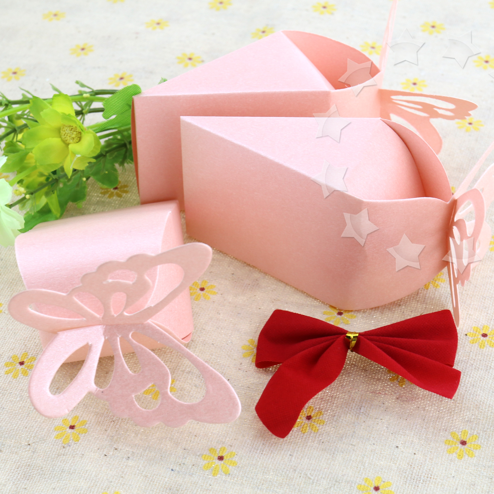 Pink Butterfly Favor Gift Candy Boxes Bomboniere Wedding Baby Shower ...