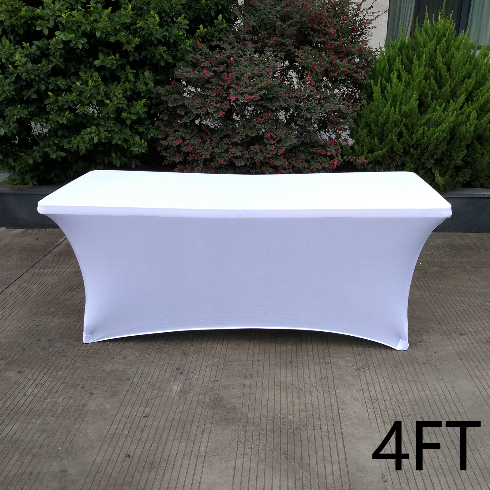 4-6FT-Rectangular-Table-Cover-Tablecloth-Spandex-Lycra-Wedding-Party-Buffet