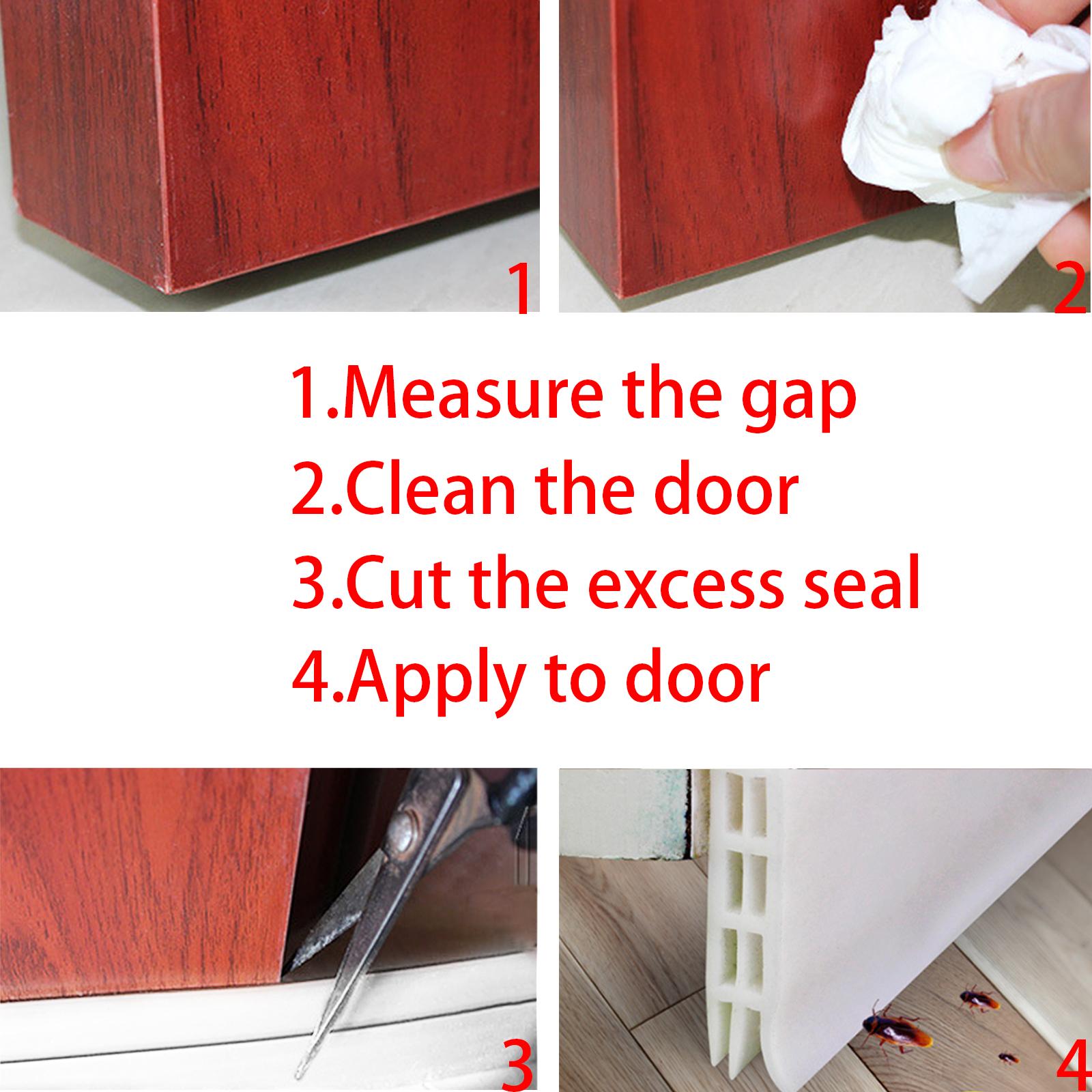 2 Quot X 39 Quot White Door Bottom Seal Strip Under Door Draught