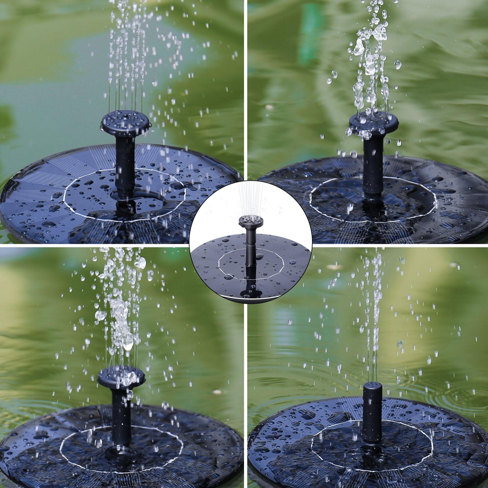 1er Schwimmende Solar Garten Springbrunnen Wasserpumpe Brunnen Gartenteich eBay