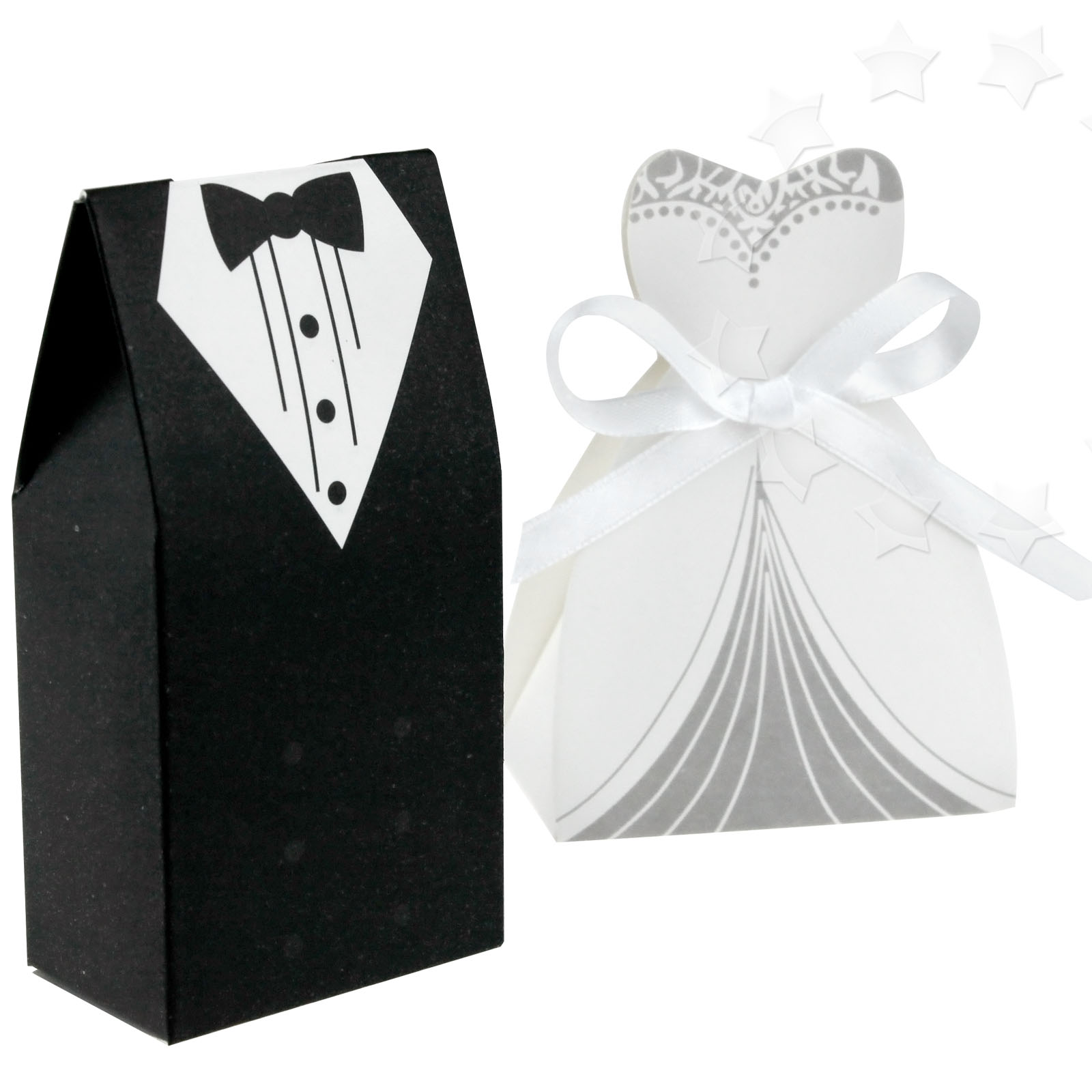 New 100 x Wedding Party Favor Lovely Candy Boxes Gift Bride Groom ...