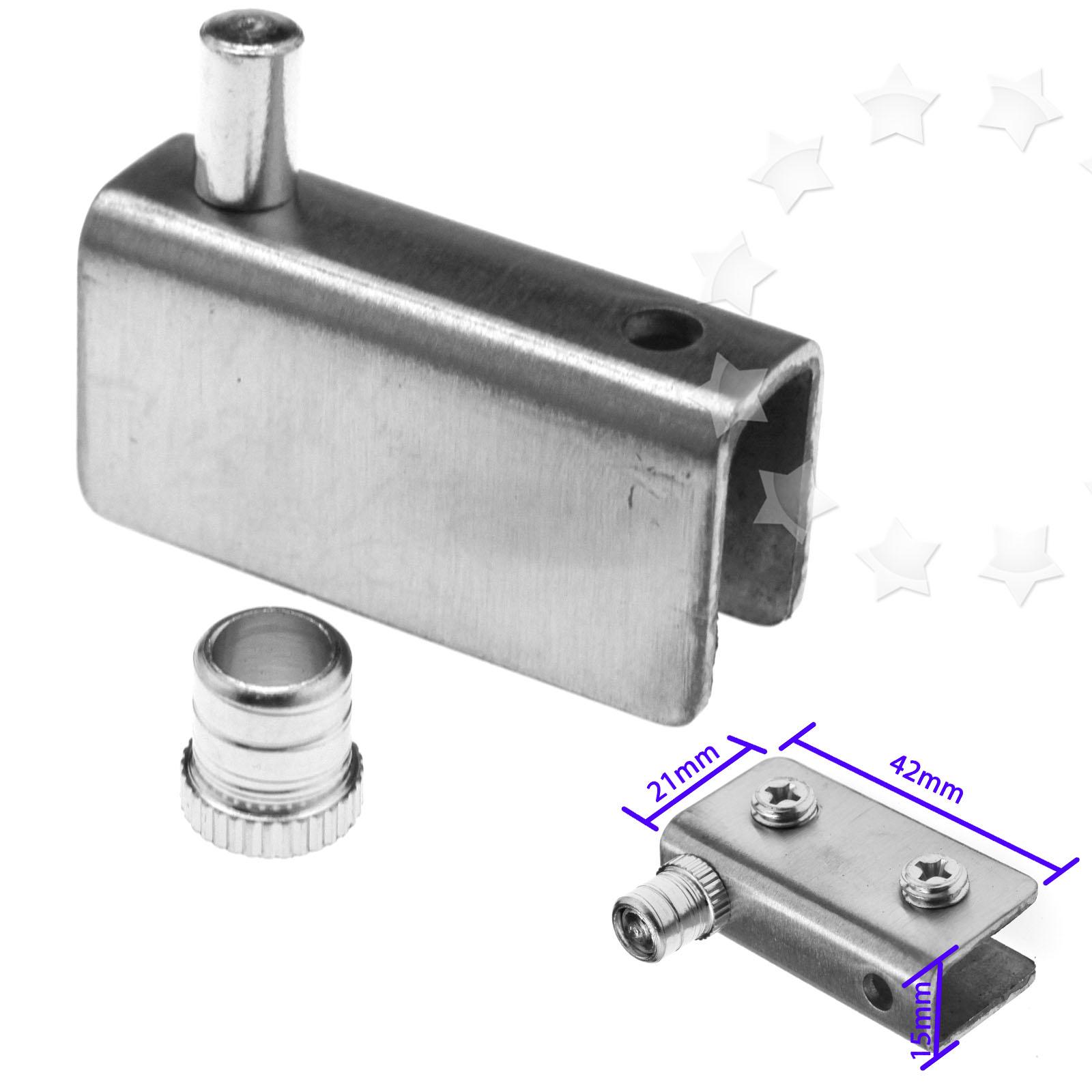 2 X Glass Door Pivot Hinge Set 304 Stainless Steel For 81012mm