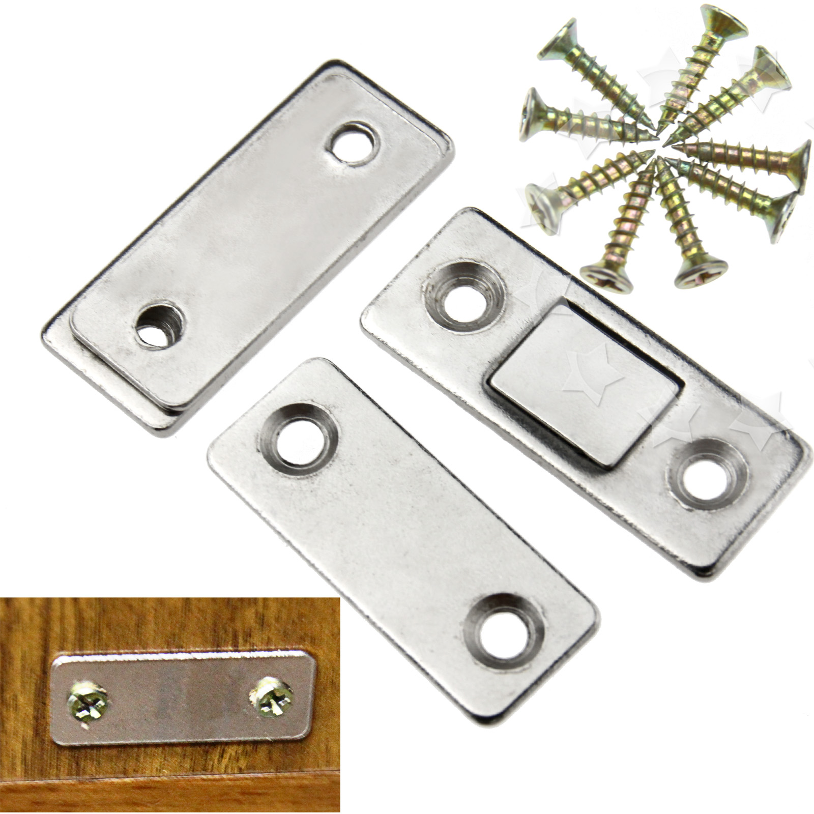 kitchen cabinet door magnets 2pcs door catch latch ultra thin furniture magnetic 5288