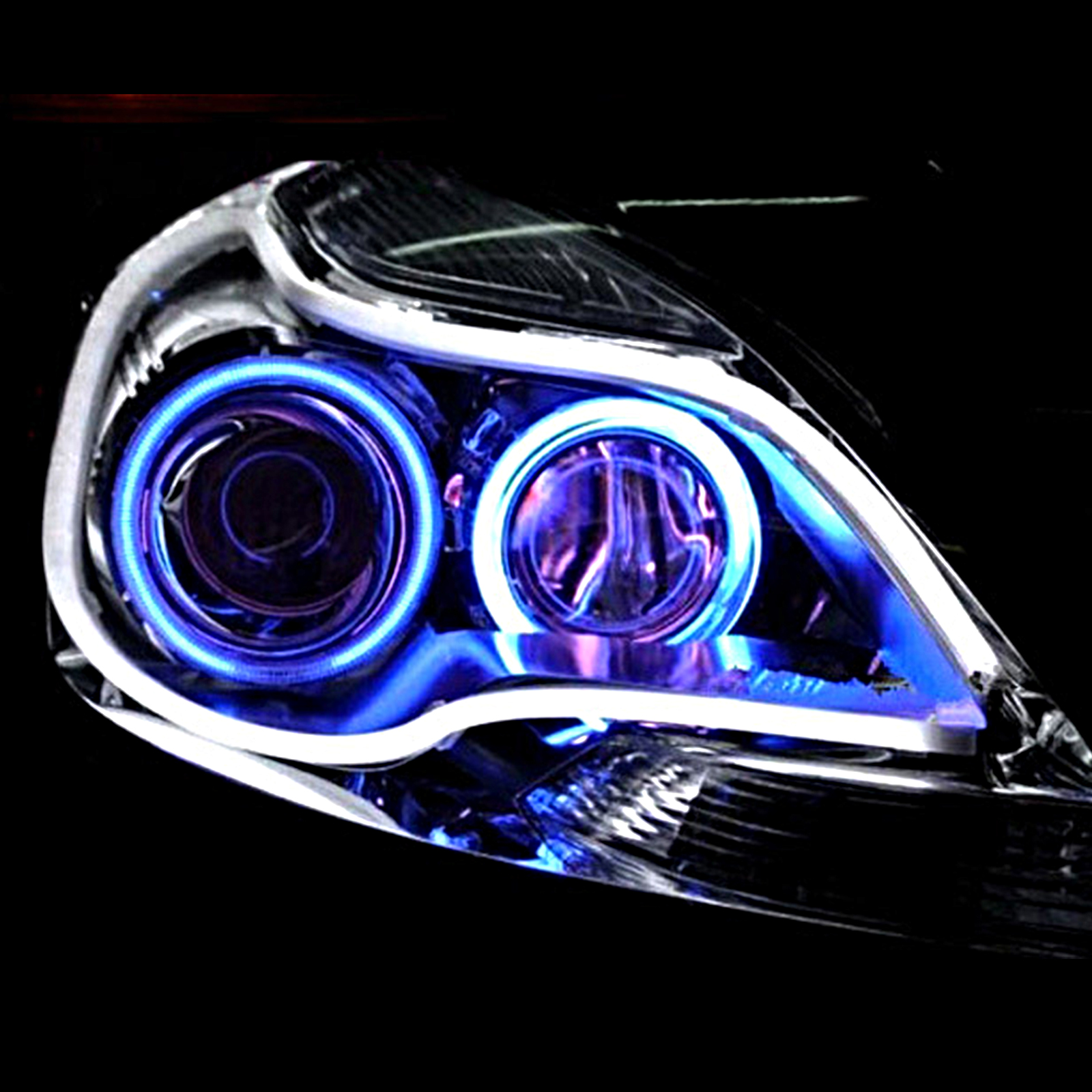 2x 45cm Sequential LED Strip Turn Signal Switchback DRL Daytime