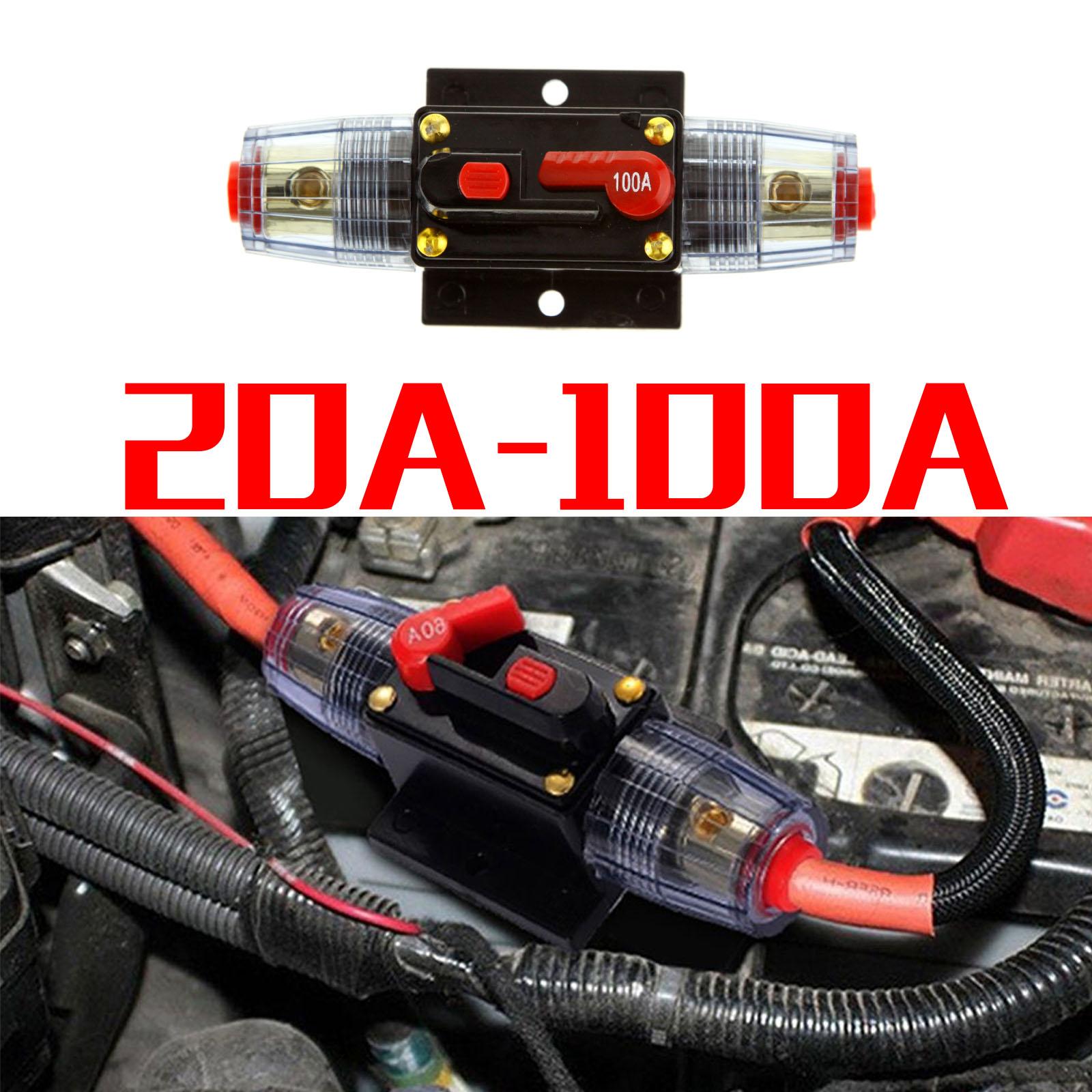 KFZ Rubber 40//60//100A Automatiksicherungshalter Sicherung Halter Automat 12V