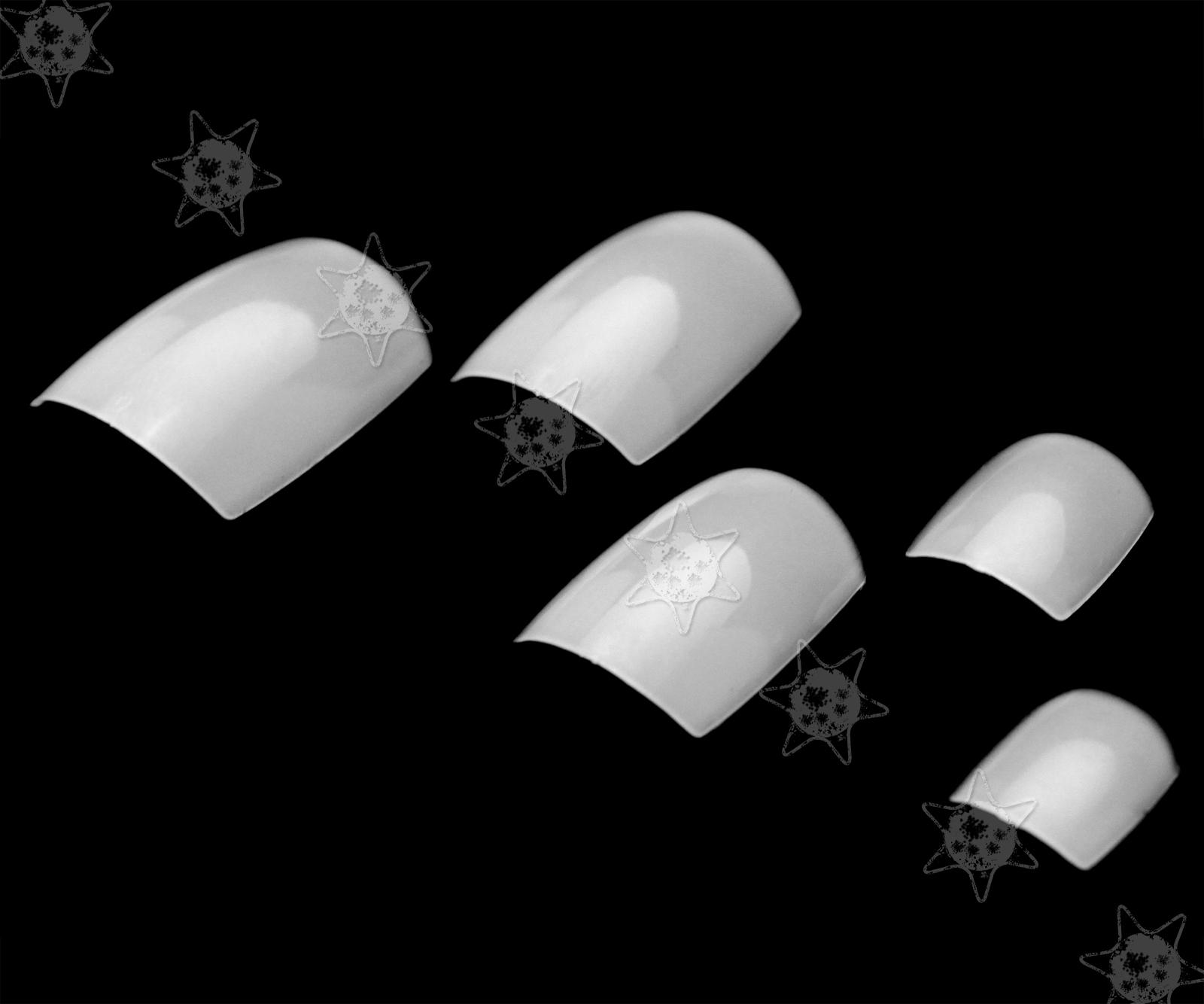 500pcs False TOE Nails Art Tips Set Full Cover Style Natural Colour ...