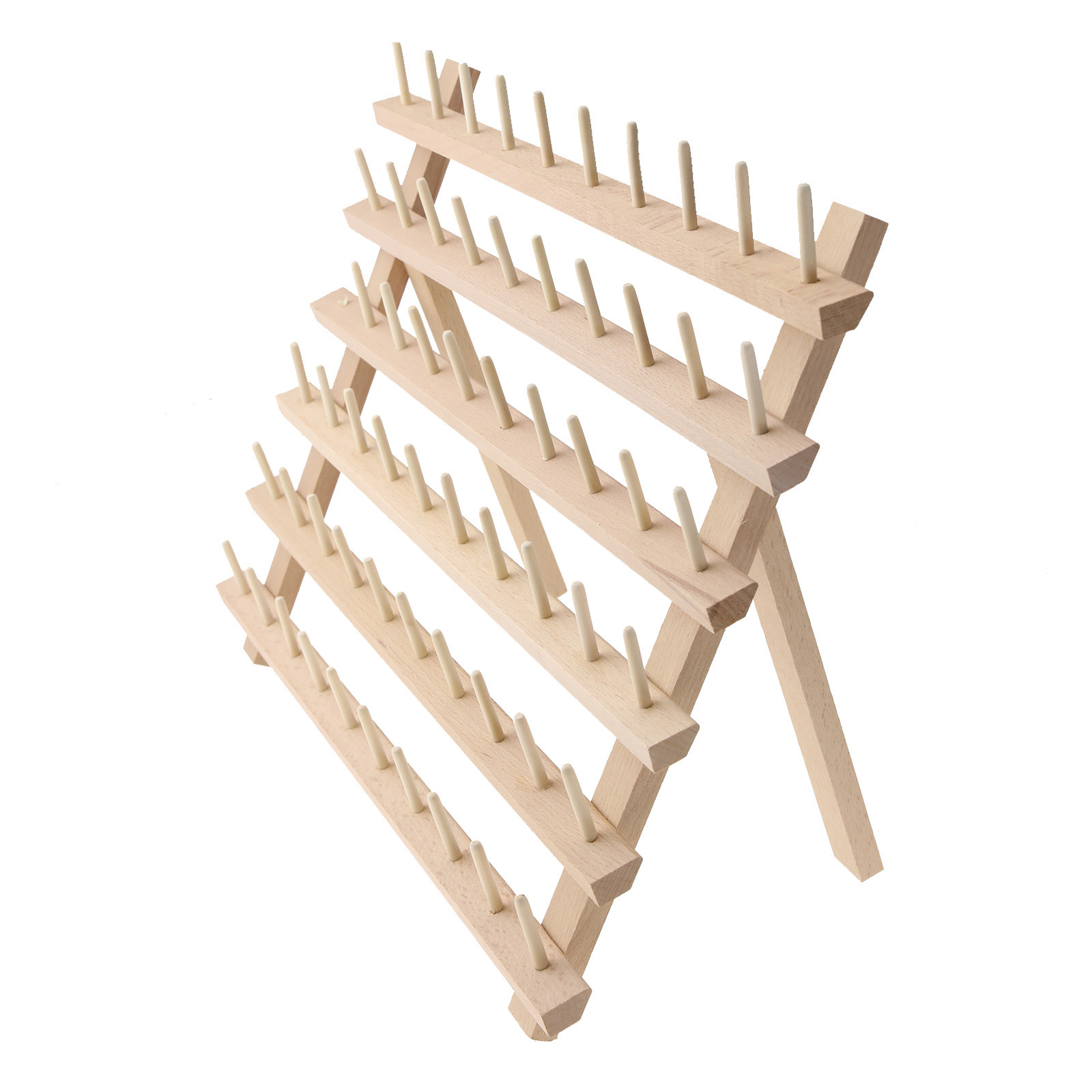 60 Spool Embroidery Wood Sewing Thread Rack Stand
