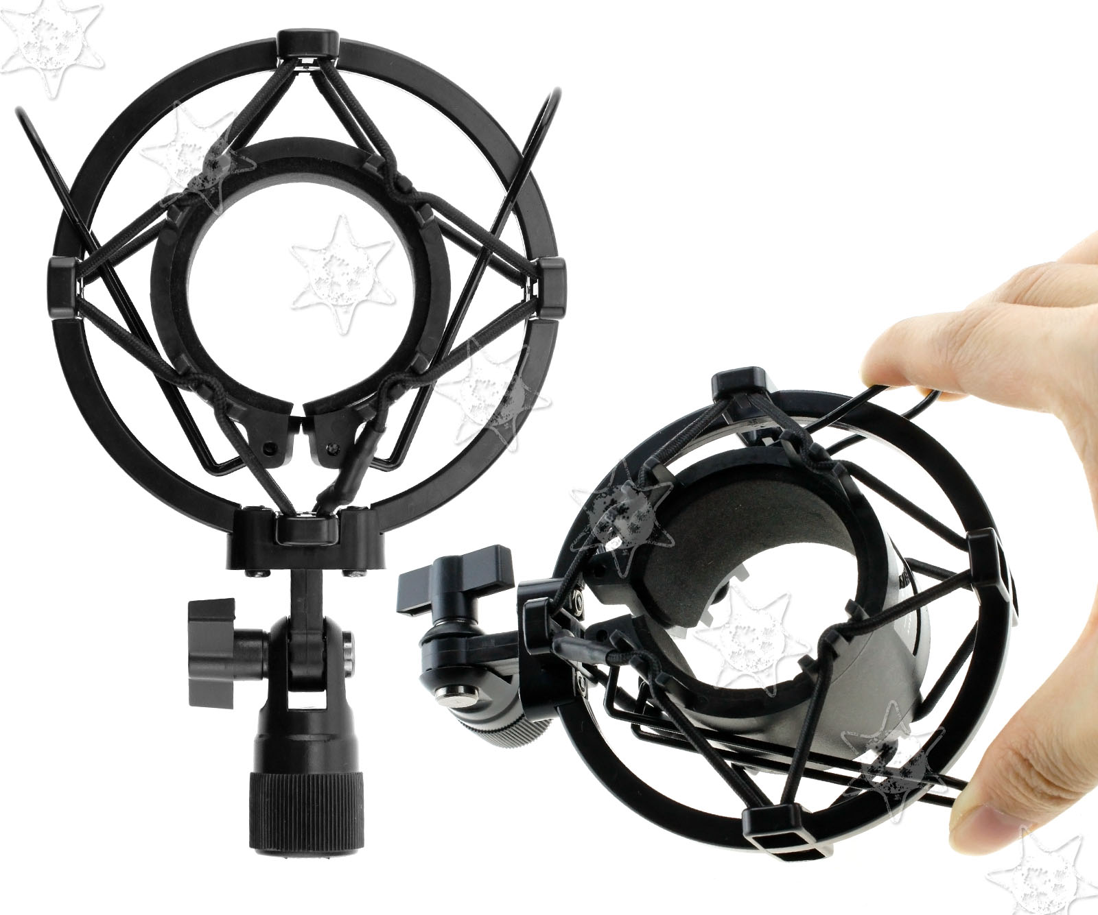 Plastikquadrat-Spinne Shock Halterung für Mikrofon Large Size Silber