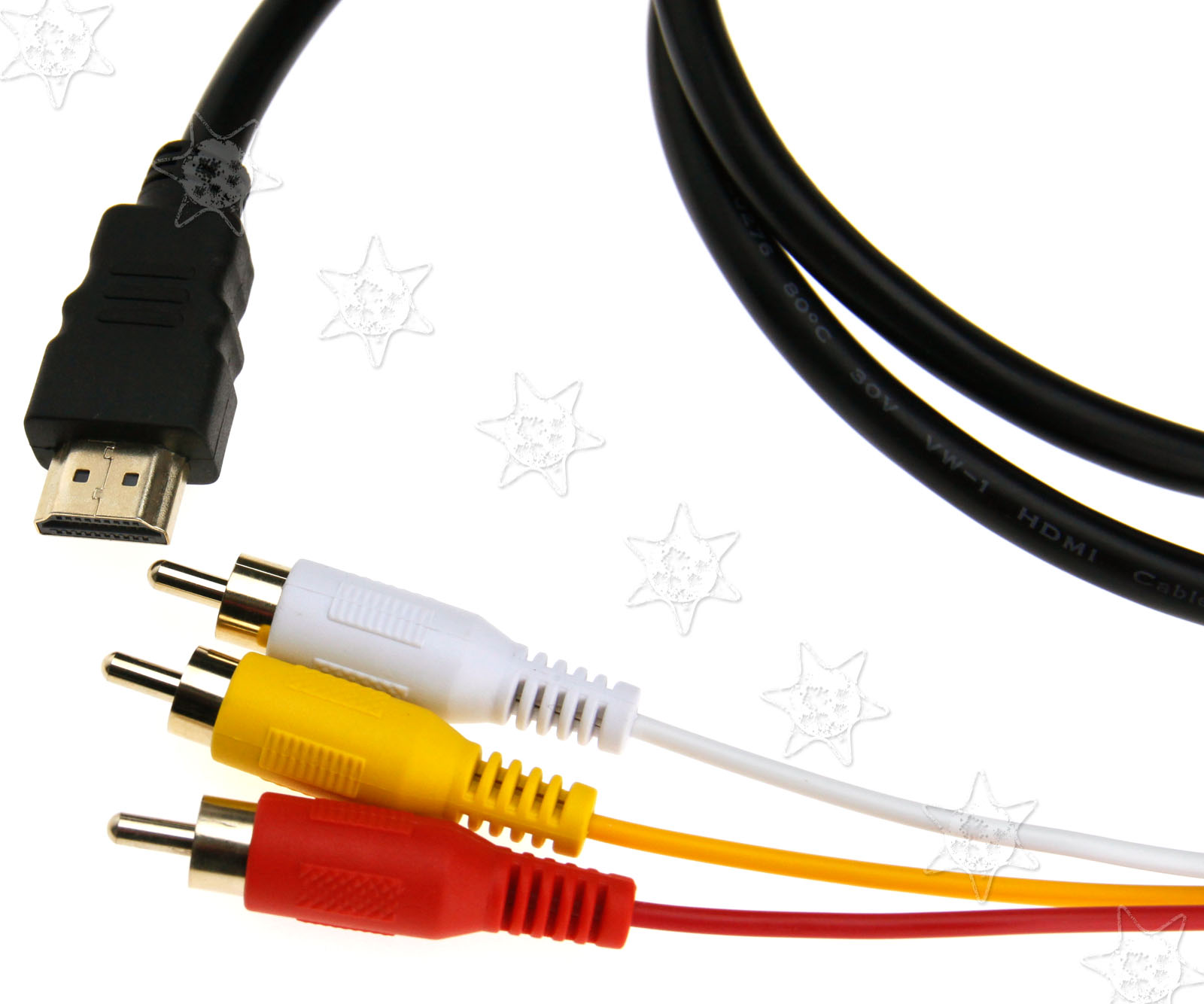 Alert New Hdmi To 3rca 3-rca Video Component Connection Cable Cord Line 100% Guarantee Back To Search Resultshome