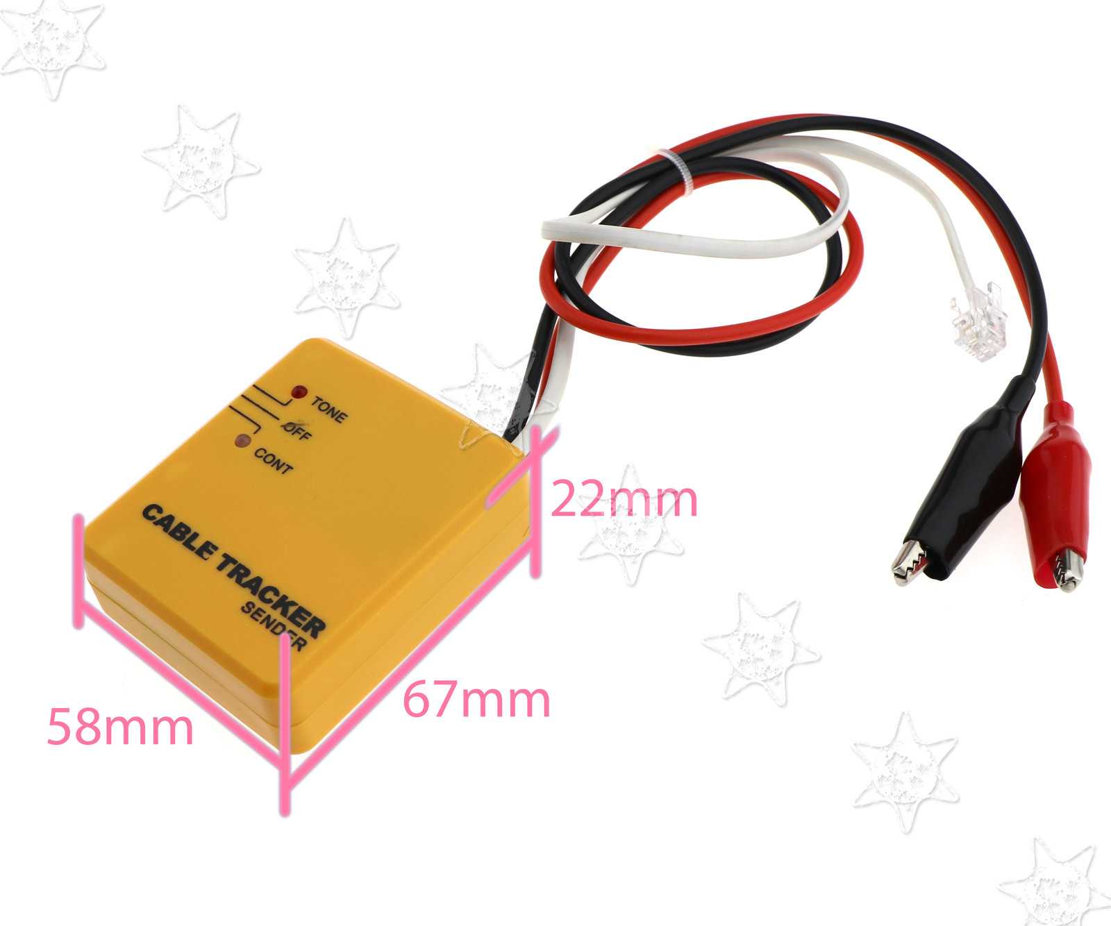 For RJ11 Cable Tester Telephone Wire/LAN Tone Generator Probe ...