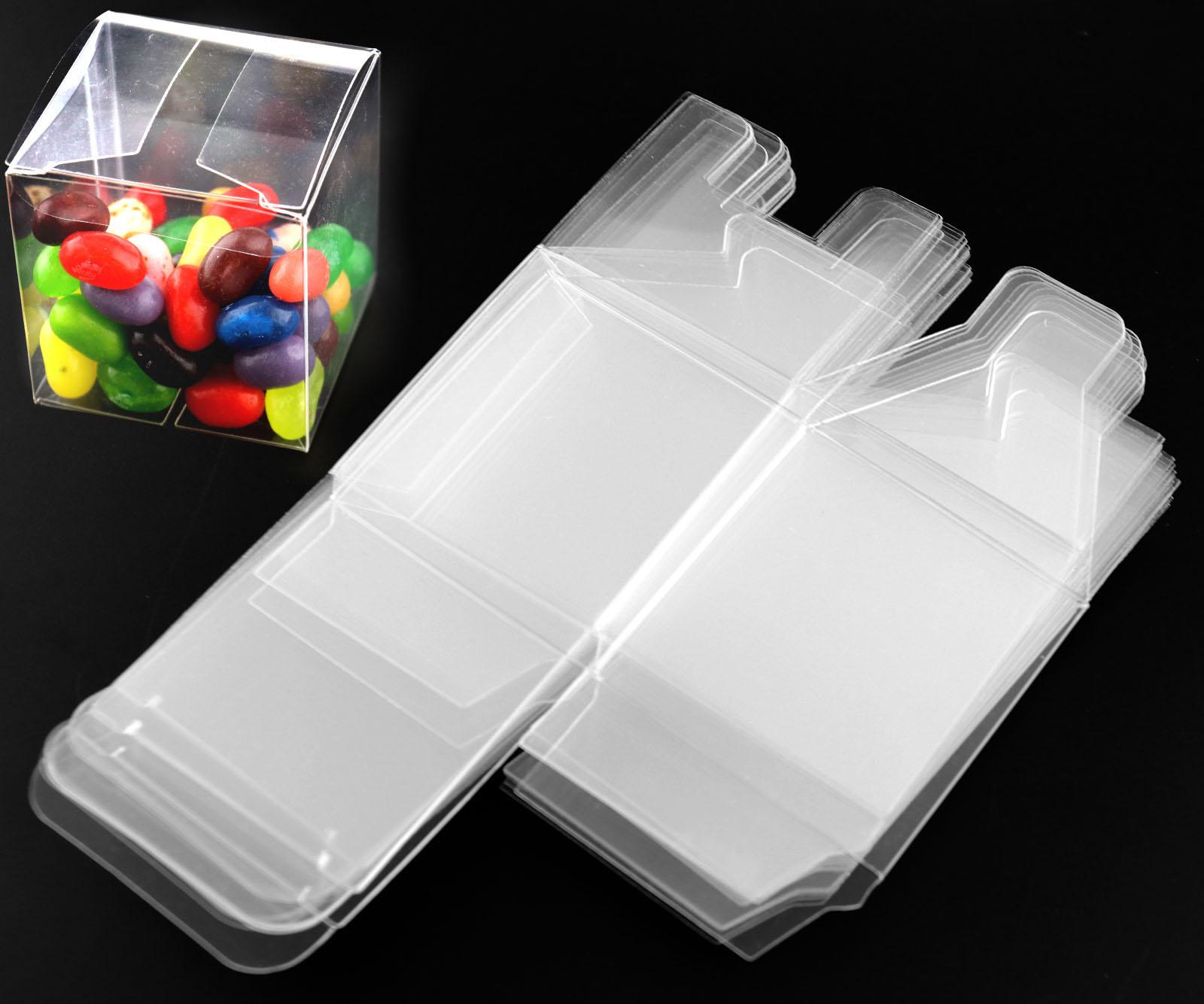 25 pcs Wedding Favour Sweet Cake Gift Candy Boxes Transparent PVC ...