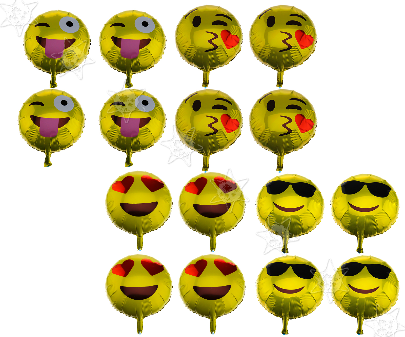 Details About 16 X 18 Foil Emoji Helium Balloon Happy Birthday Party Smiley Wink Decoration