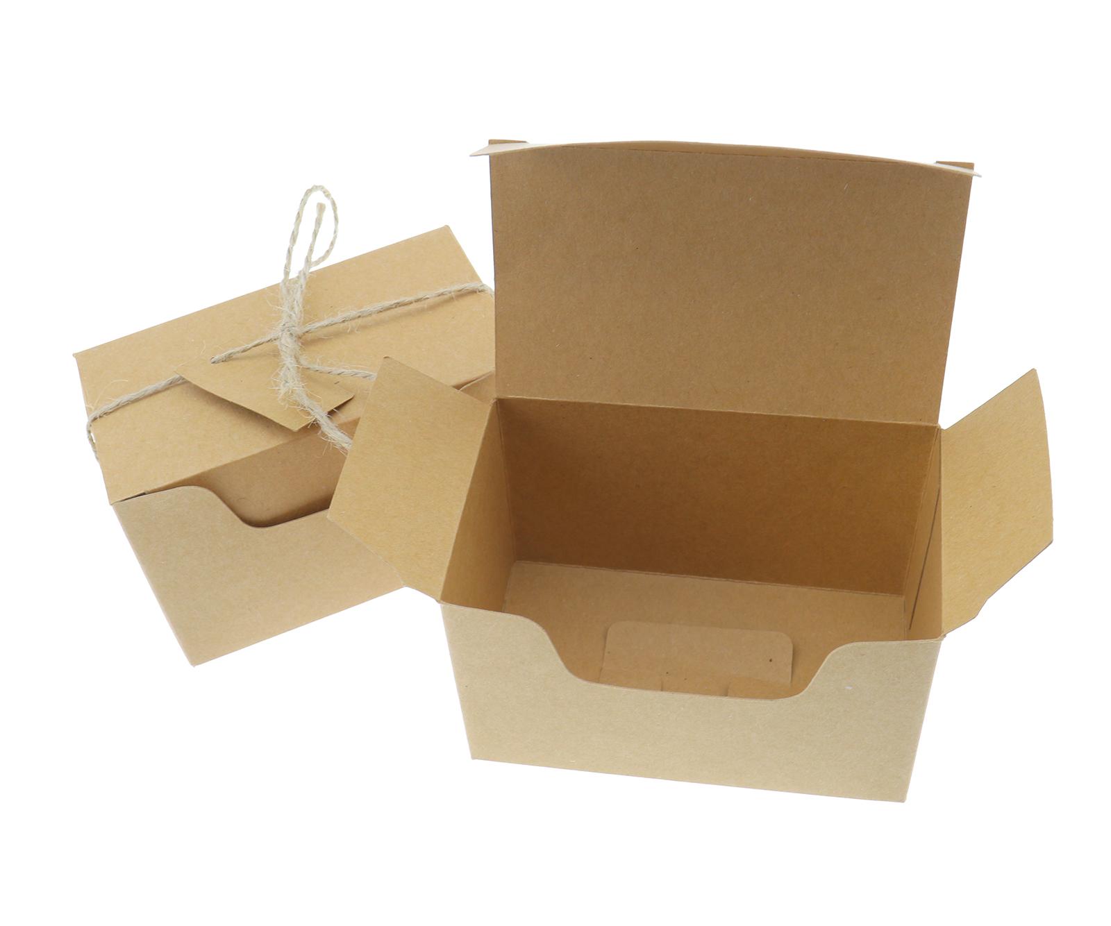 50pcs Kraft Wedding Gift Boxes Candy Cake Cookies Party Wedding