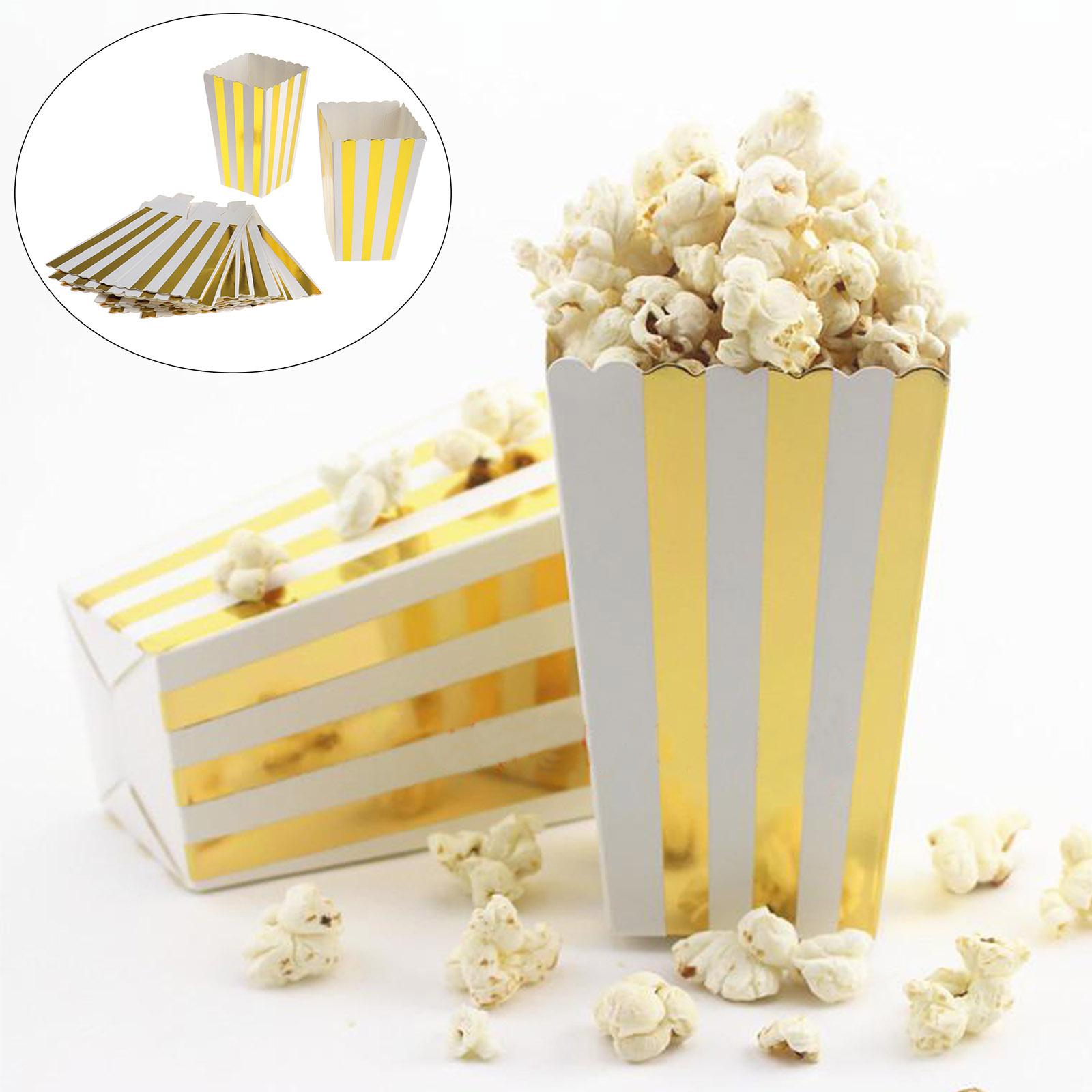 10//30pcs Popcorntüten Popcornbecher Papiertüte Becher Wellen
