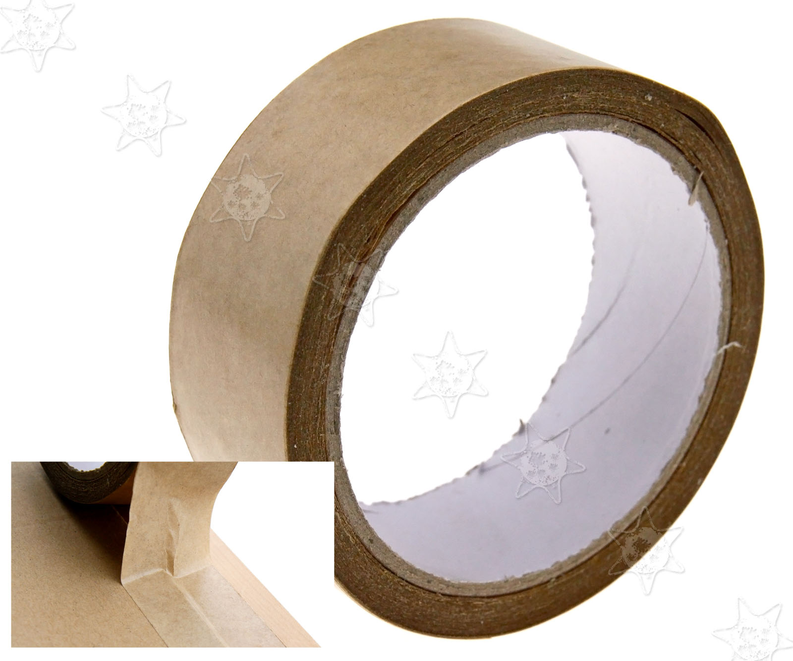 Picture Framing Canvas Brown Self-Adhesive Backing Tape 50m Length ...