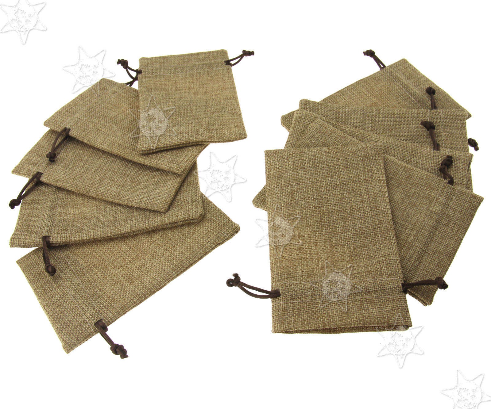 10 X Mini Hessian Bags Burlap Favor Wedding Gift Drawstring Closure