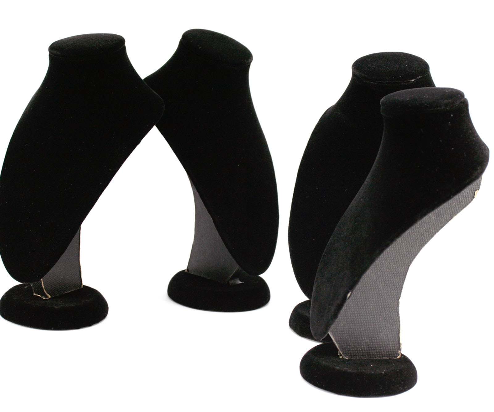 4 x Braun Schmuckständer Halsketten Halter Ständer Schmuck Büste Display