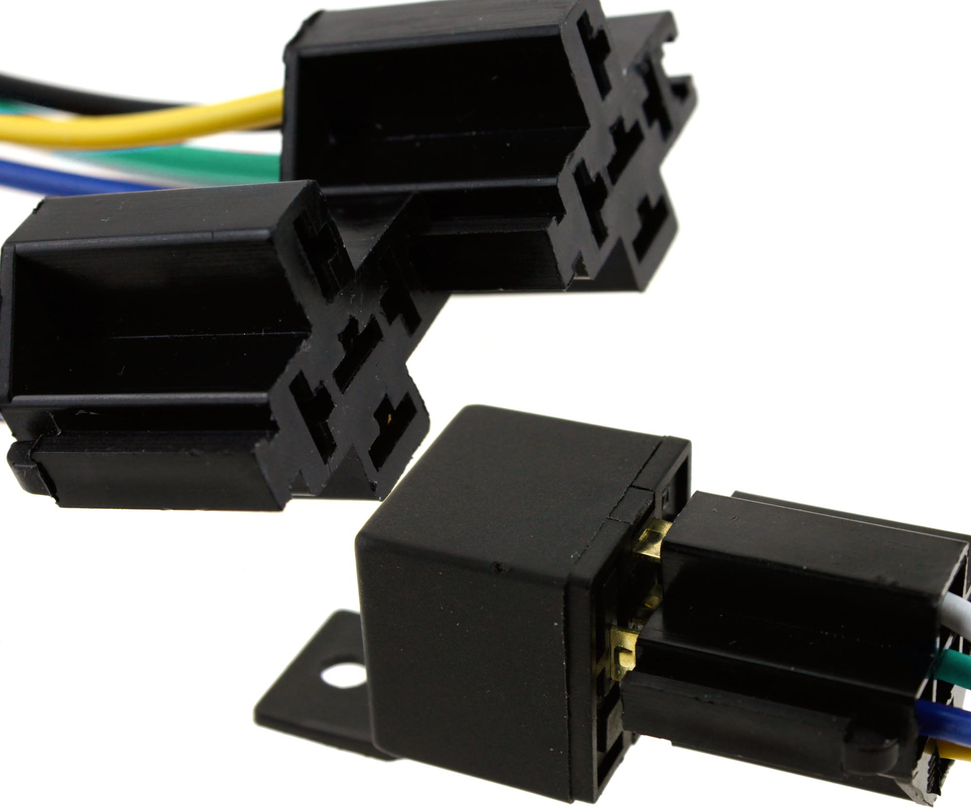 5x Auto Truck 12v 40a Pre Wired 5 Pin Relay Mounting Base