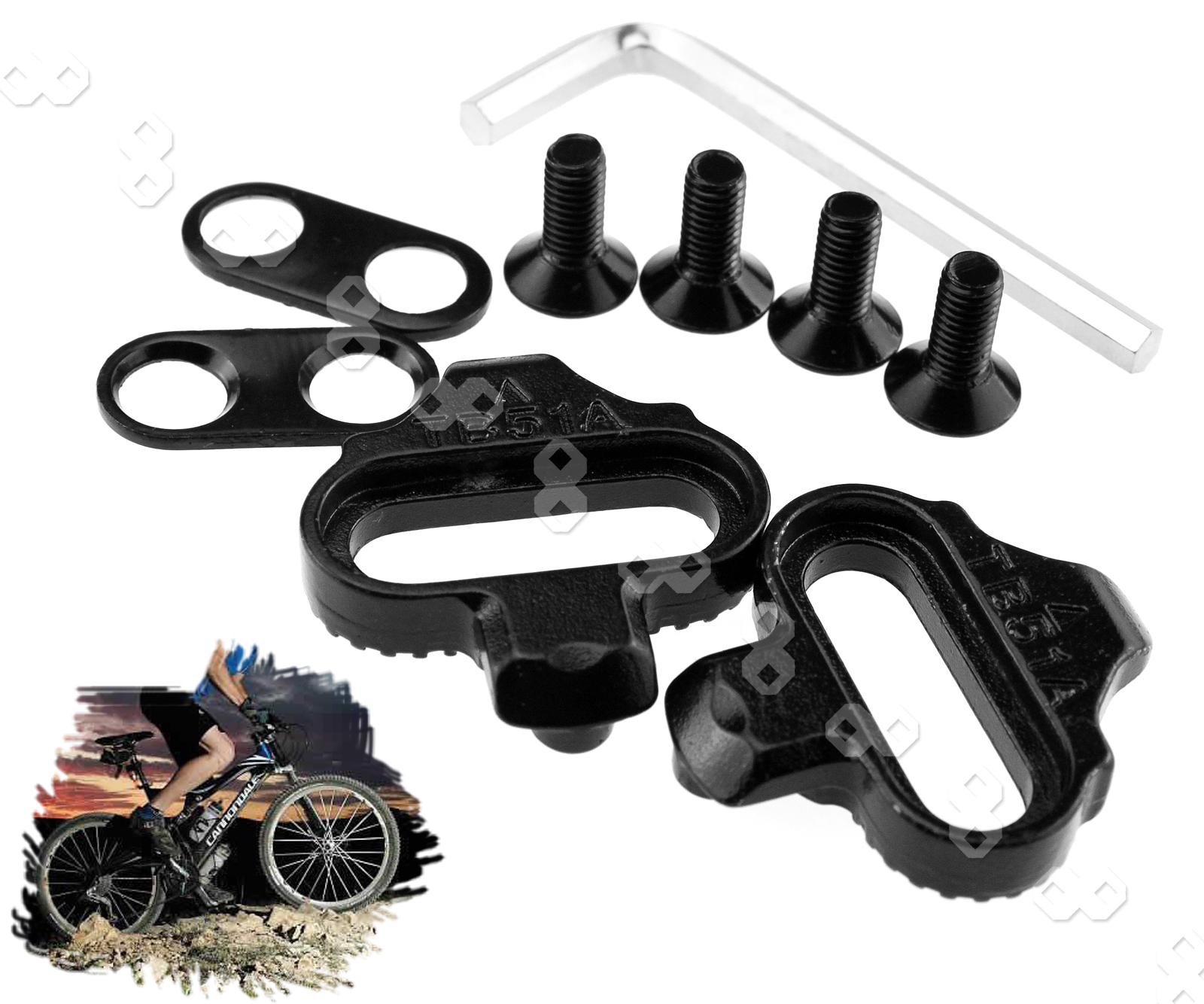 c2ed08b21 Details about WE For Shimano SM-SH51 SPD Single Release Mountain Bike MTB  Pedal Cleats Set