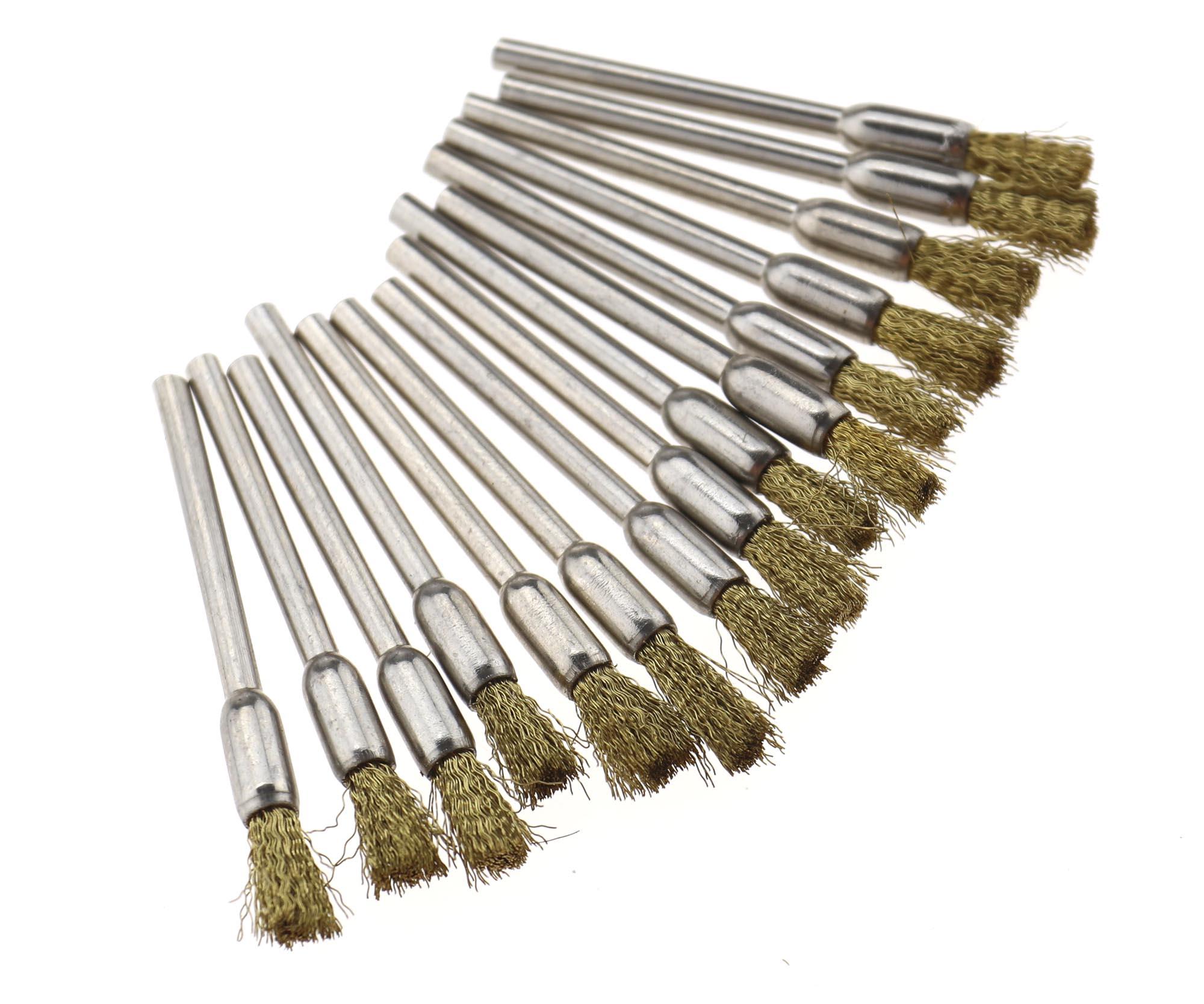 45er 40mm Stahl Messingdraht-Bürste Textil-Polierscheiben Polierwerkzeuge
