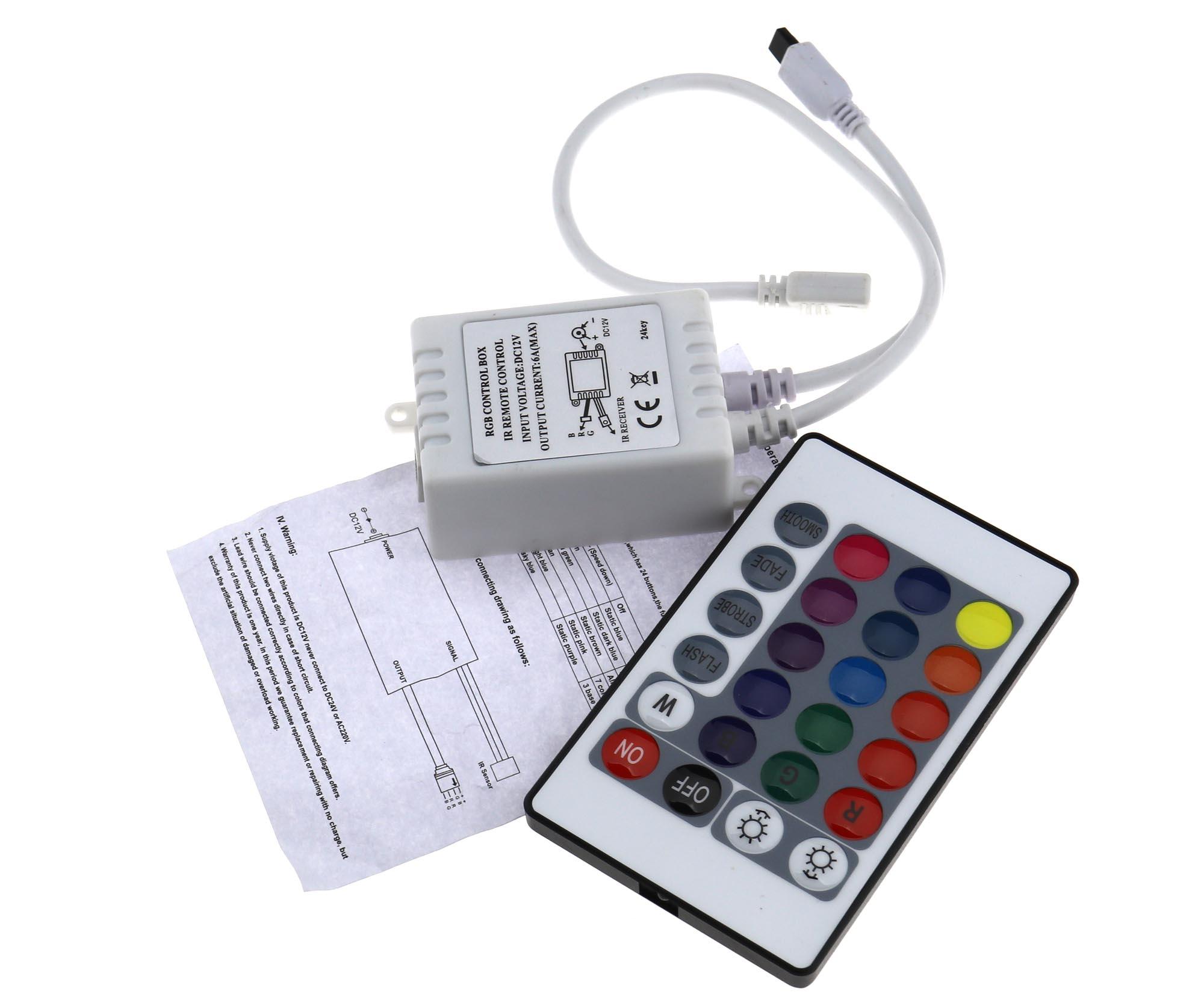 12v 24 Key Ir Remote Controller Box For Rgb Led 3528 5050 Smd Strip Irremotecontrolcircuitdiagram2jpg 1 Pcs Control