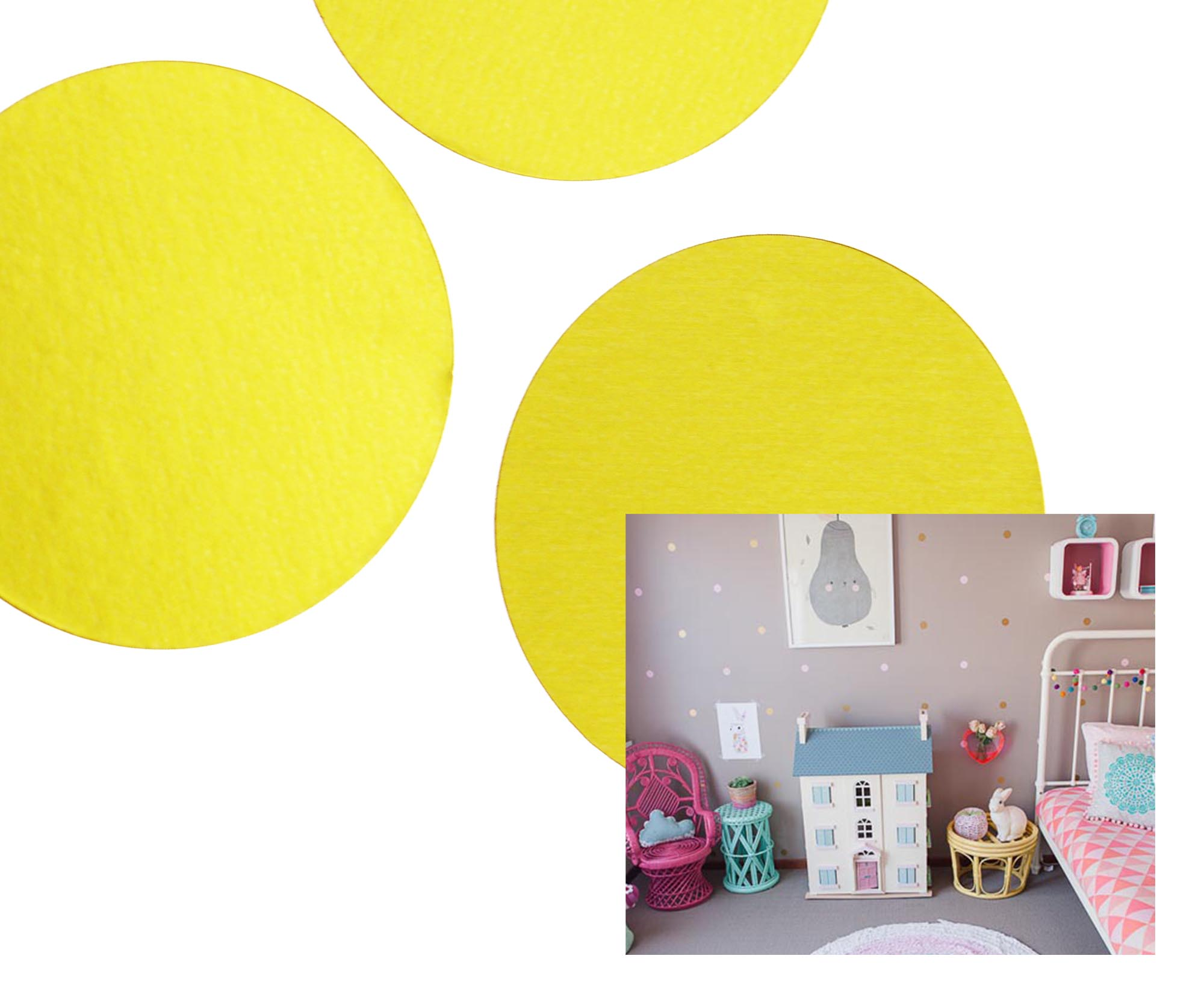 Details about 120 Polka Dot Wall Stickers Decal Child Kids Vinyl Spots Removable Art Decor